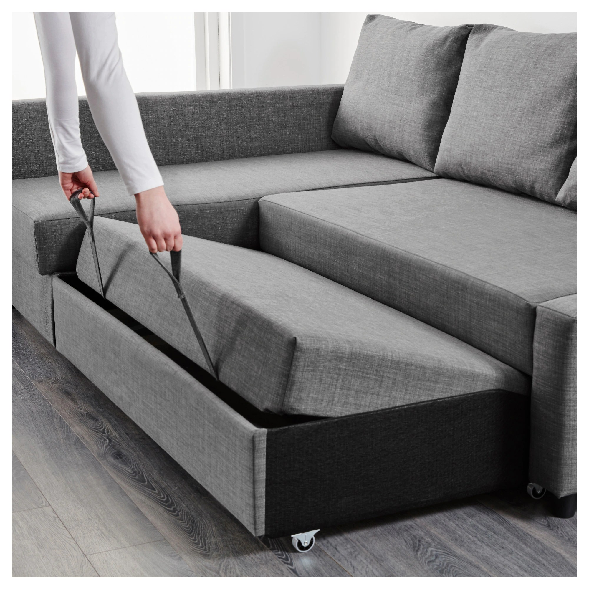 Sofa 3er Ikea Friheten Corner Sofa Bed With Storage Skiftebo Dark Grey