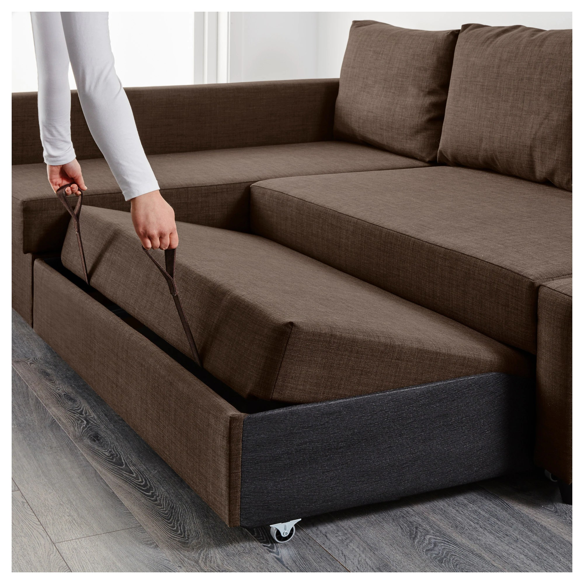 Bettsofa Ikea Friheten Friheten Sleeper Sectional 3 Seat W Storage Skiftebo Dark Gray