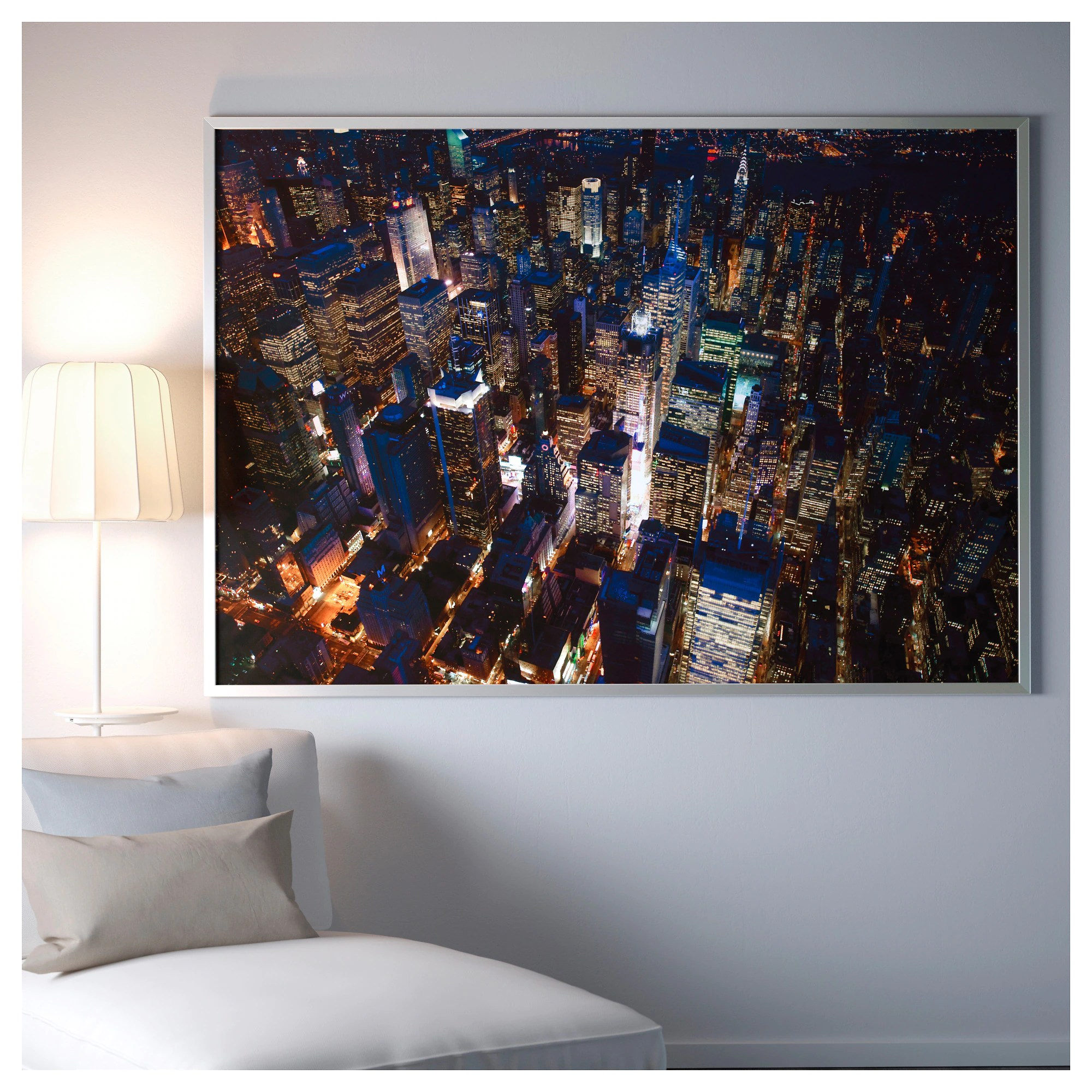 New York Poster Ikea Picture And Frame BjÖrksta City Lights New York Aluminum Color