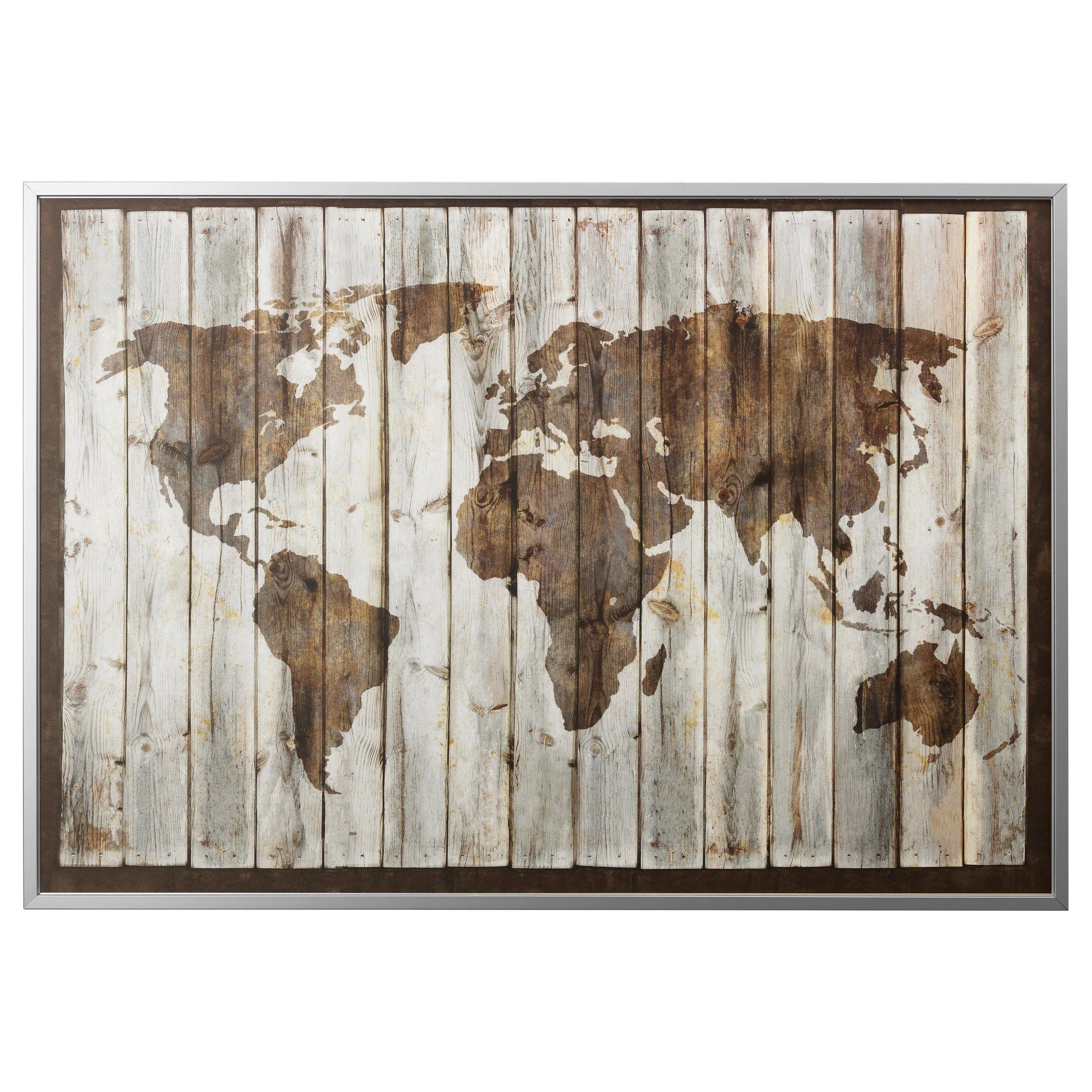 New York Poster Ikea Picture And Frame BjÖrksta Driftwood Map Aluminum Color