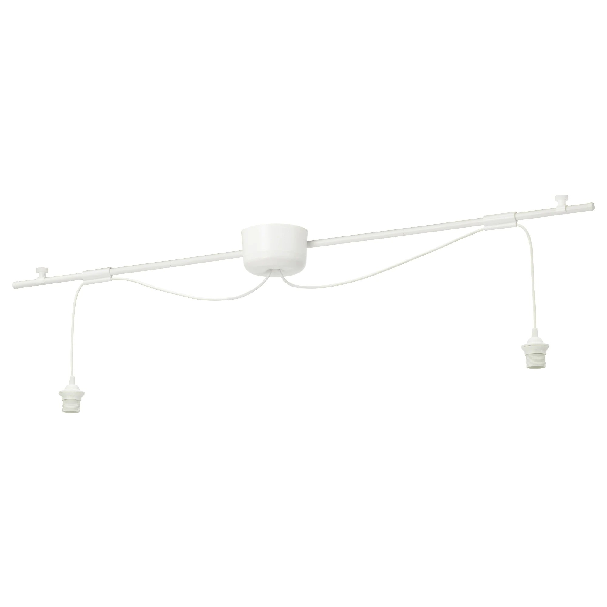 Rail Luminaire Ikea Hemma Double Cord Set With Rail White