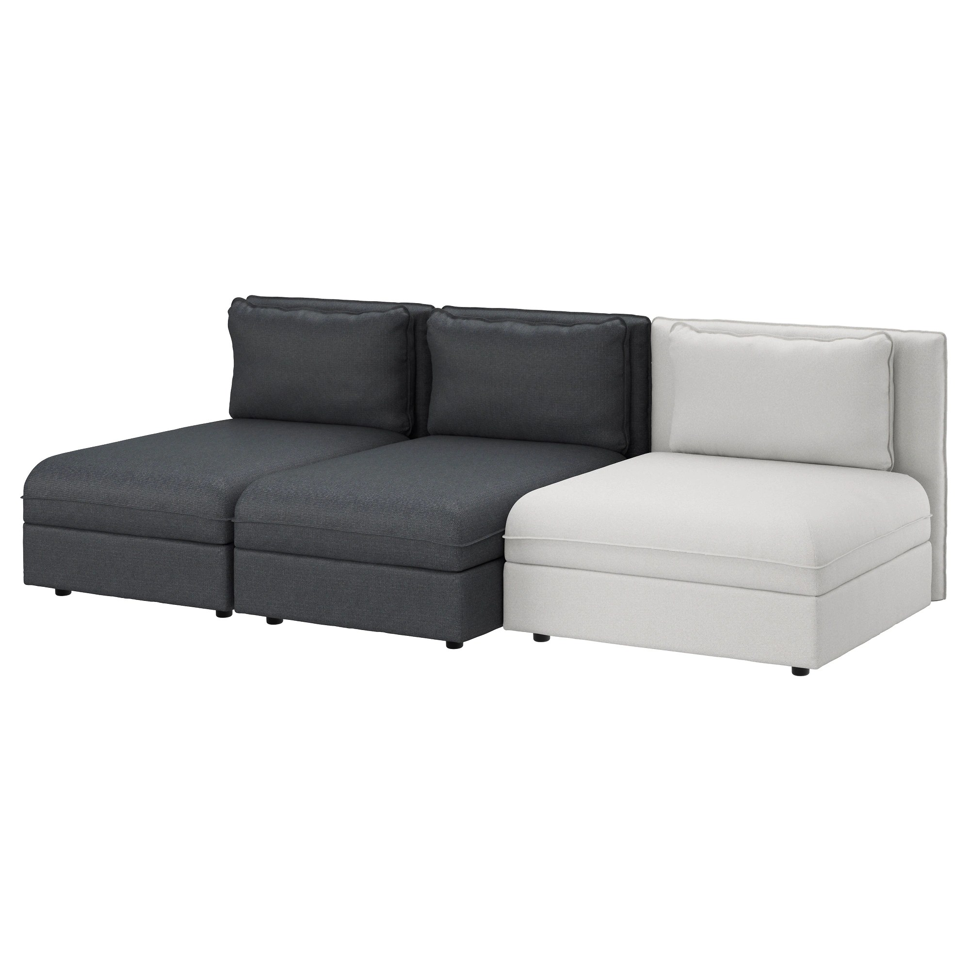 Ikea Sofa Vallentuna Erfahrung Vallentuna Sofa Hillared Dark Gray Orrsta Light Gray