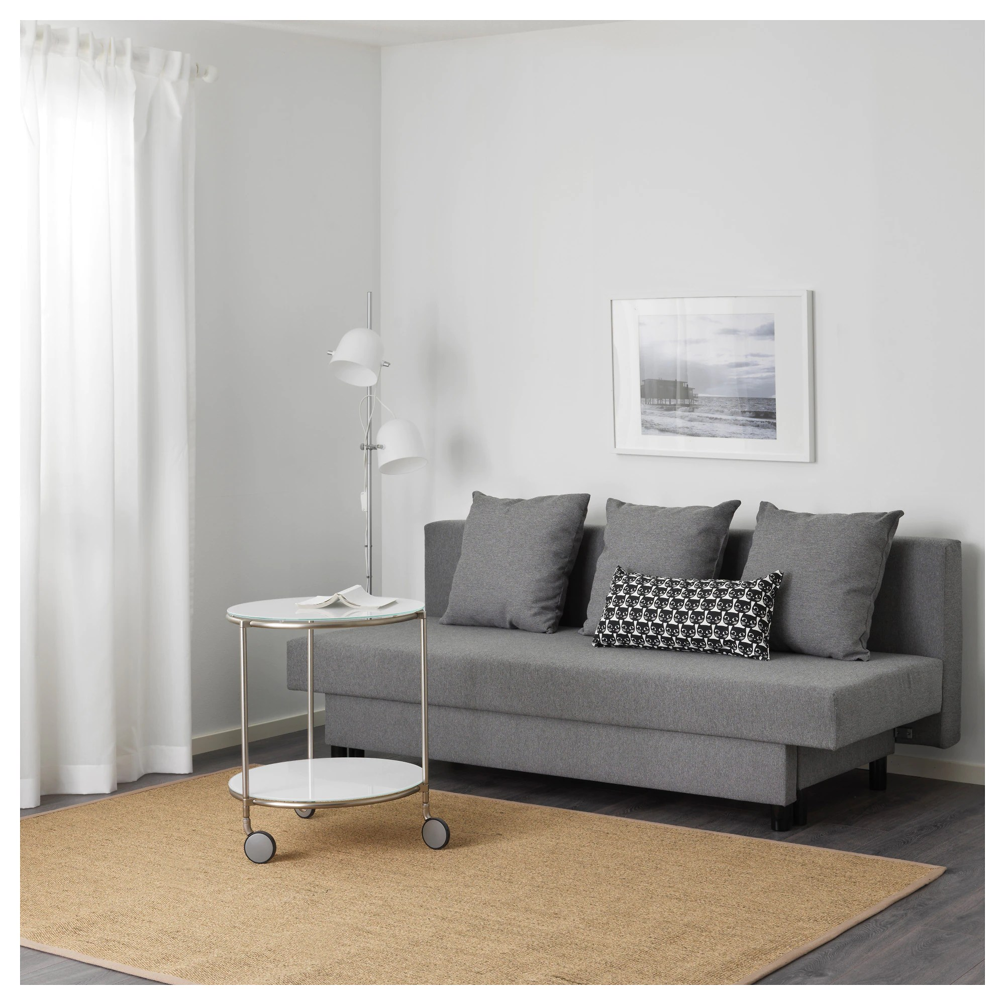 Klassische Sofas You Can Assemble Asarum Three Seat Sofa Bed Grey