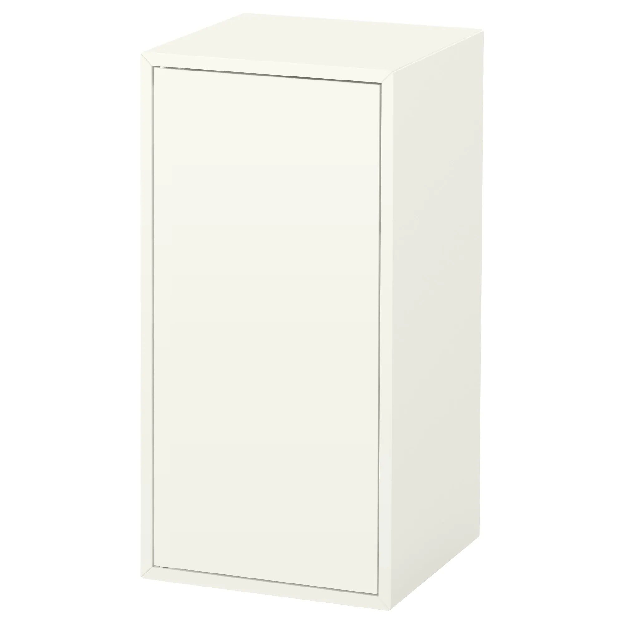 Push To Open Deur Eket Cabinet With Door And Shelf White