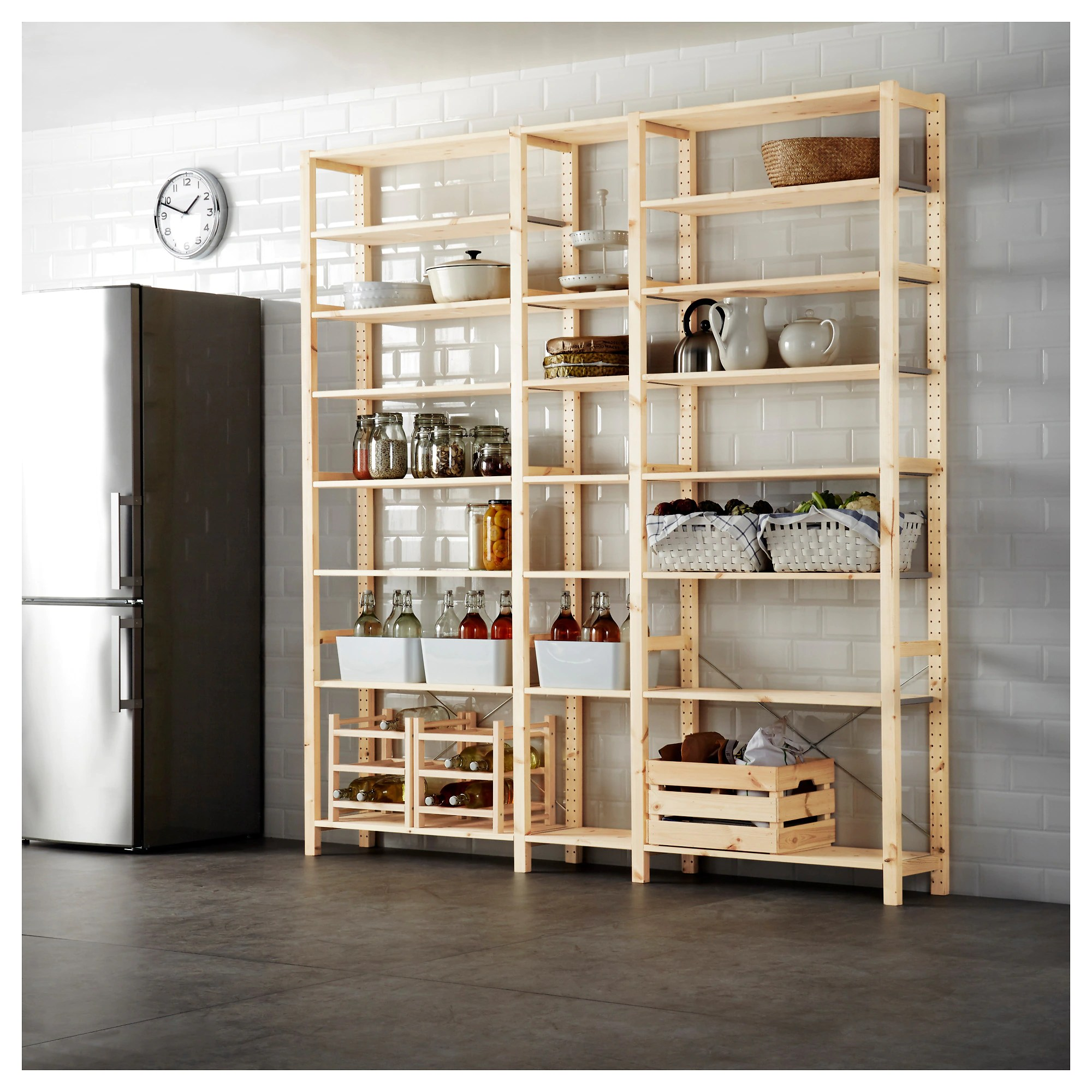 Ikea.de Ivar Ivar 3 Section Shelving Unit Pine