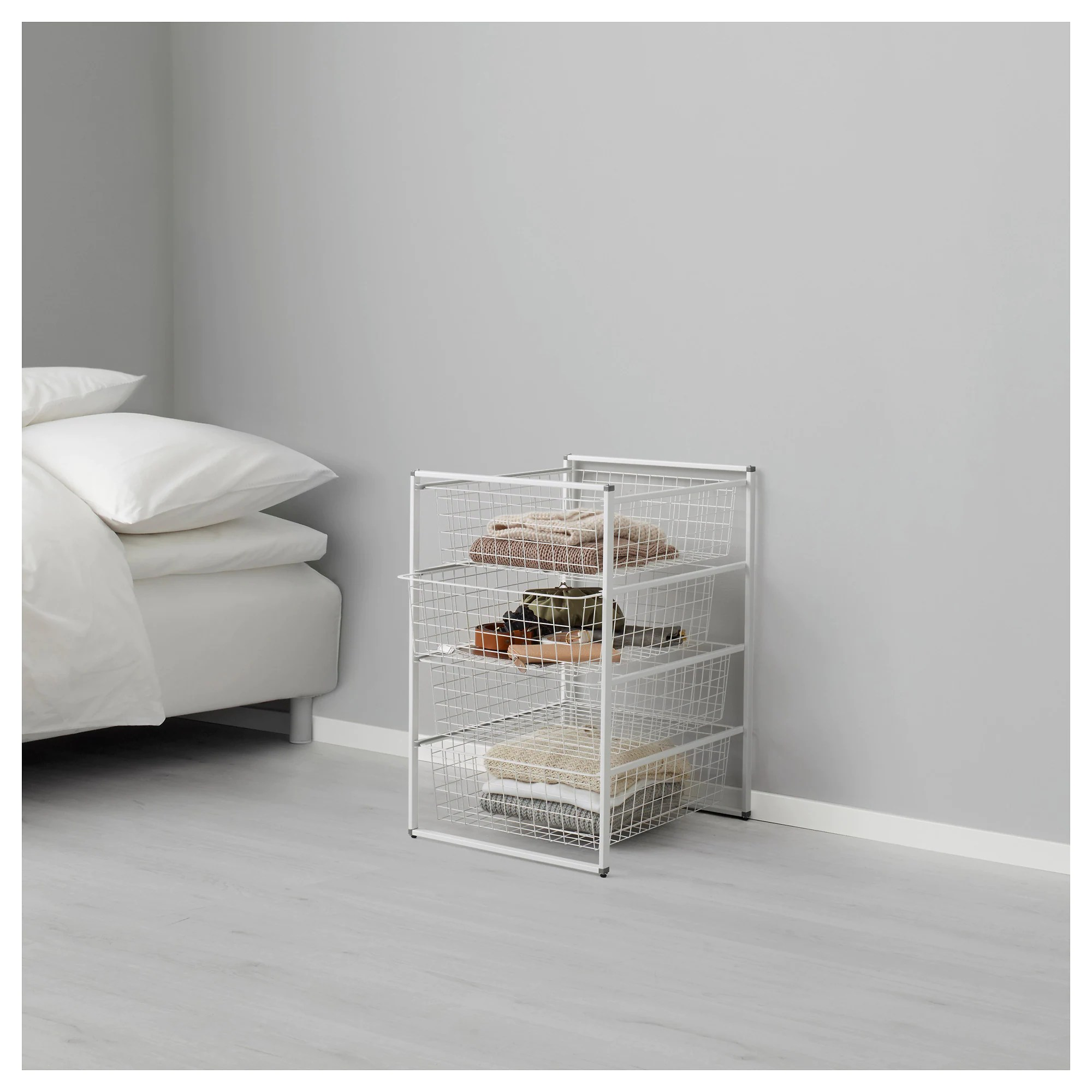 Ikea System Antonius Frame And Wire Baskets White