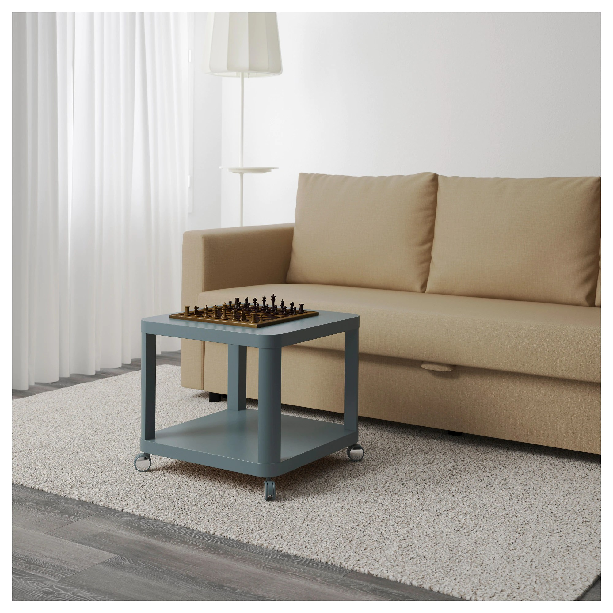 Table Basse D Appoint Ikea Ikea Tingby Table D Appoint à Roulettes Turquoise 50x50cm