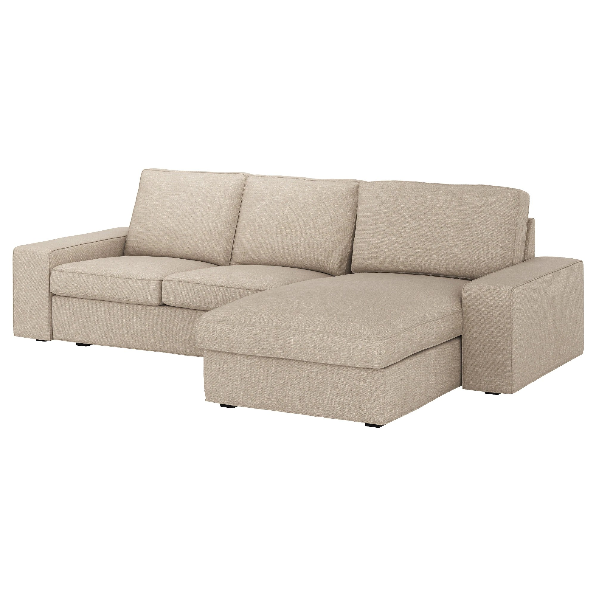 Ikea Kivik Sofa Recamiere 3 Seat Sofa Kivik Hillared With Chaise Longue Hillared Beige