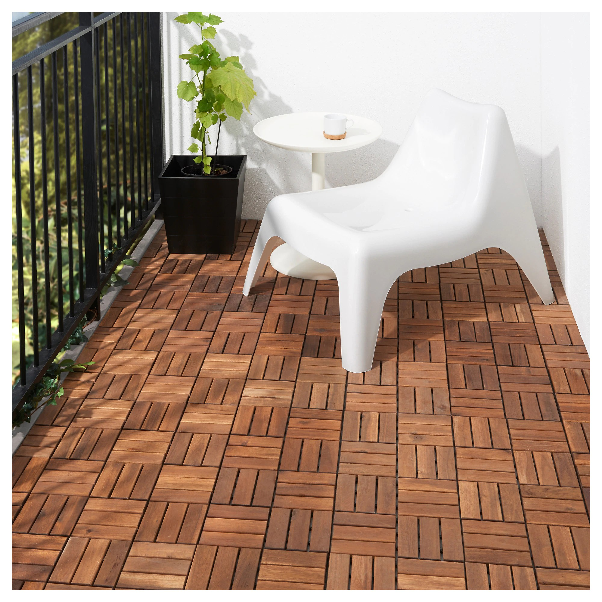 Outdoor Timber Tiles Runnen Decking Outdoor Brown Stained