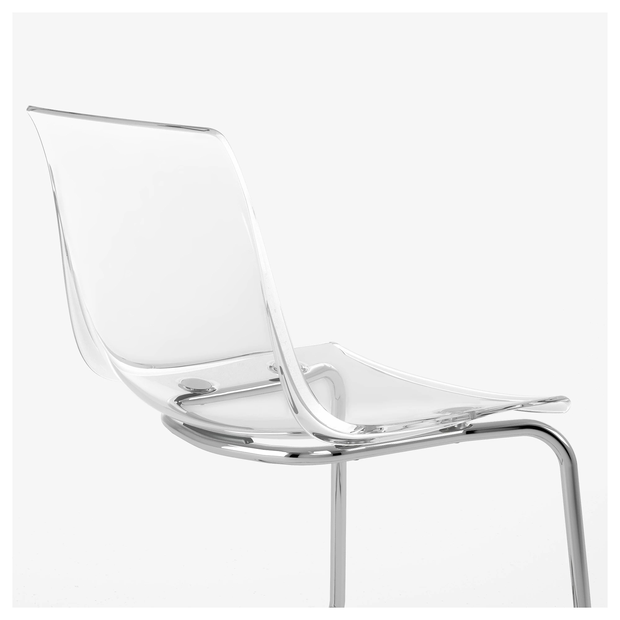 Chaise Polycarbonate Ikea Tobias Chair Clear Chrome Plated
