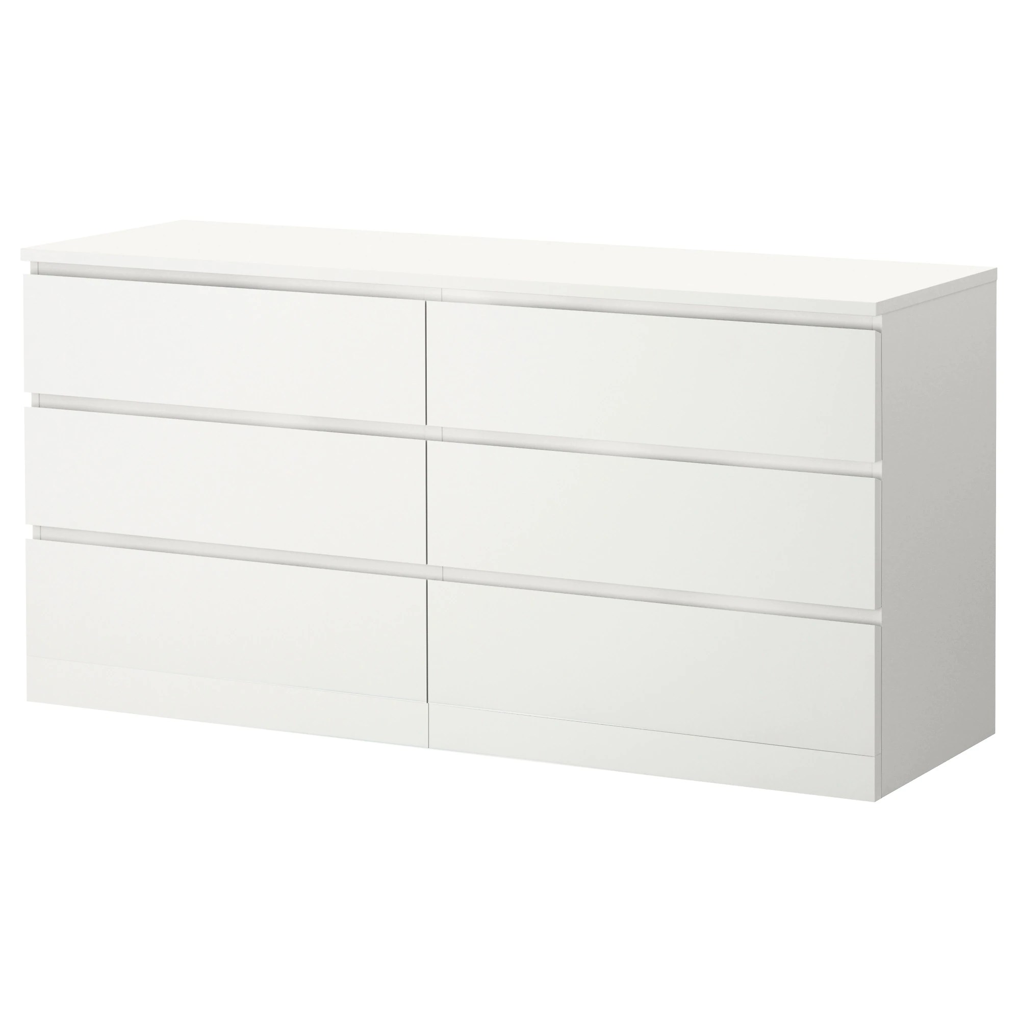 Ikea Kommode 60 X 120 Malm 6 Drawer Dresser White