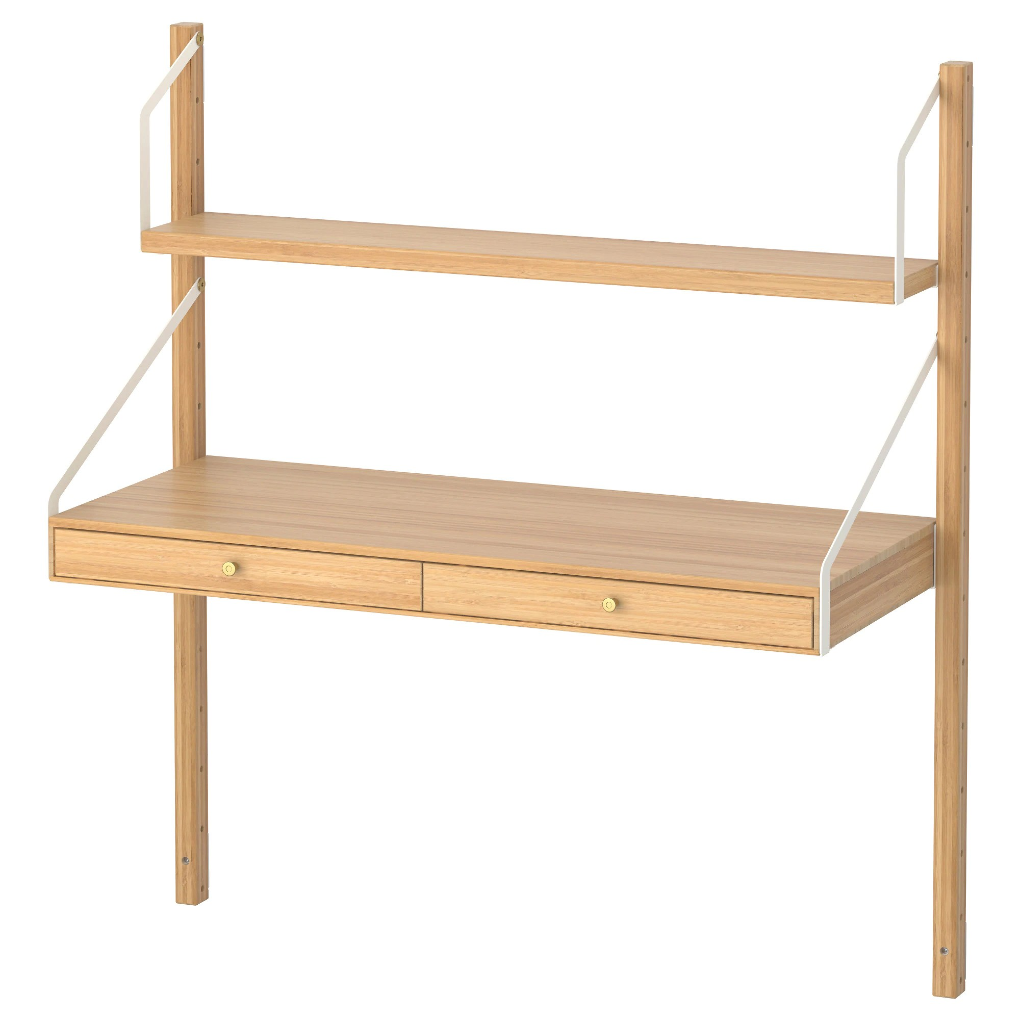 Ikea Bambusregal SvalnÄs Wall Mounted Workspace Combination Bamboo