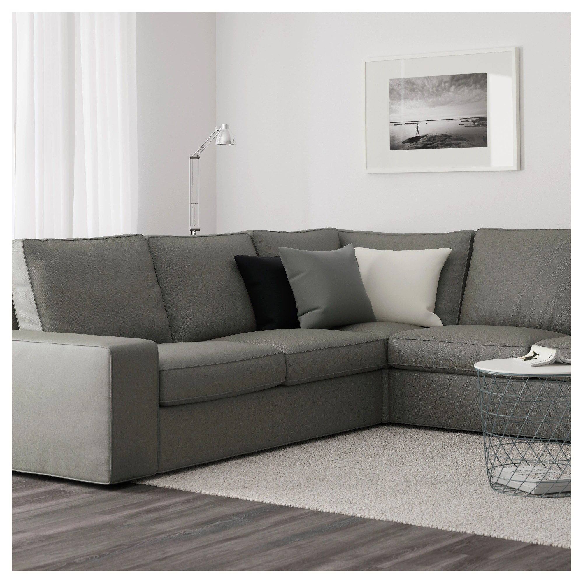 Kivik Sectional Kivik Sectional 5 Seat Corner Orrsta With Chaise Orrsta Light Gray
