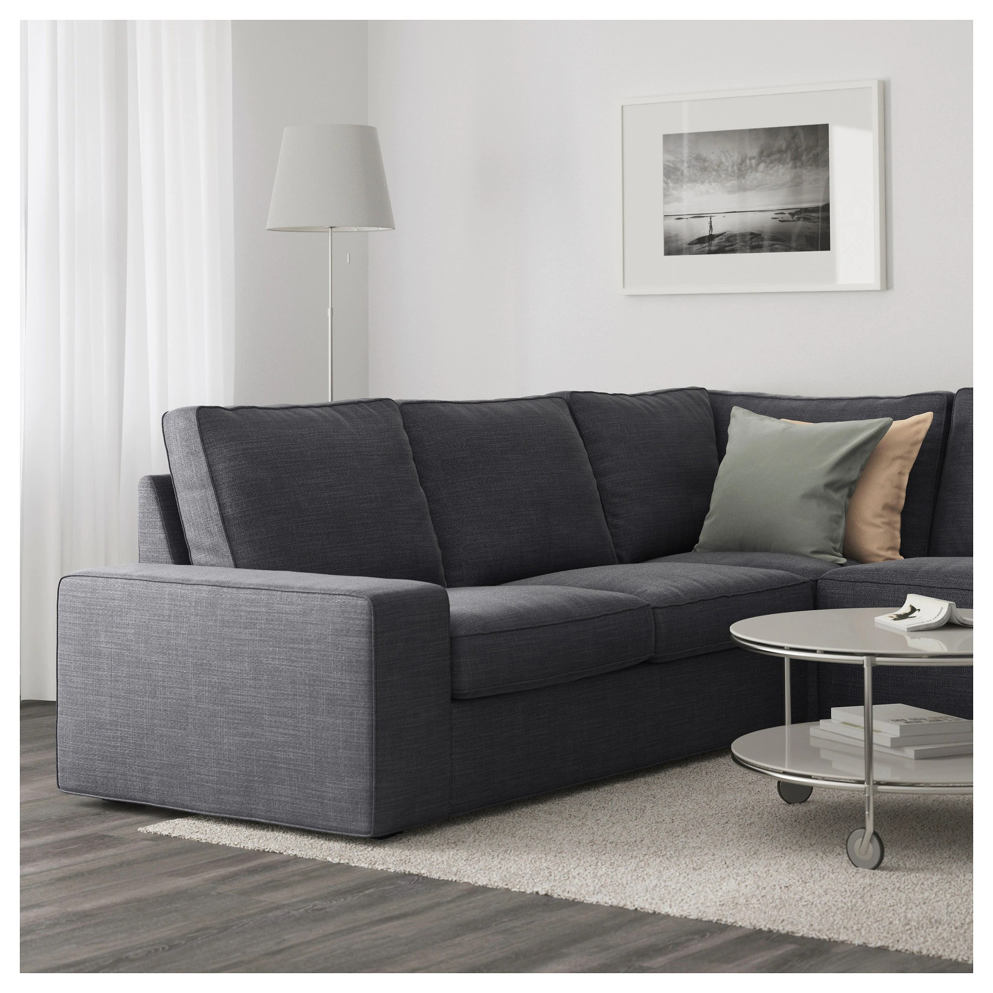 Kivik Sectional Kivik Sectional 5 Seat Corner Hillared Anthracite