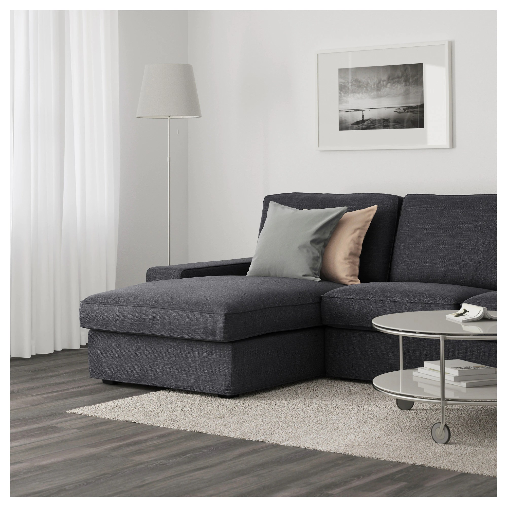 Kivik Sectional Kivik Sofa Hillared With Chaise Hillared Dark Blue
