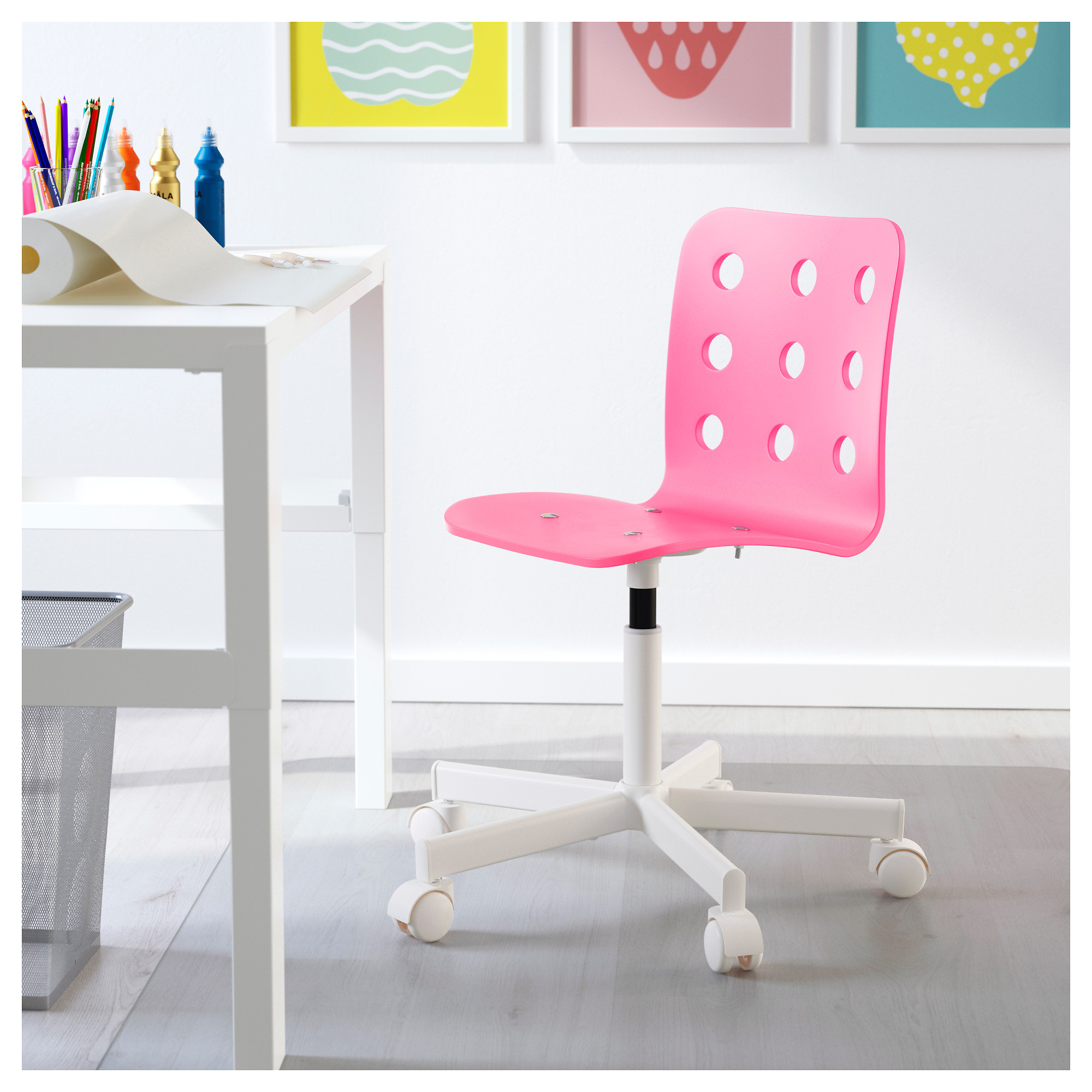 Ikea Stühle Jules Jules Children's Desk Chair - Pink, White - Ikea