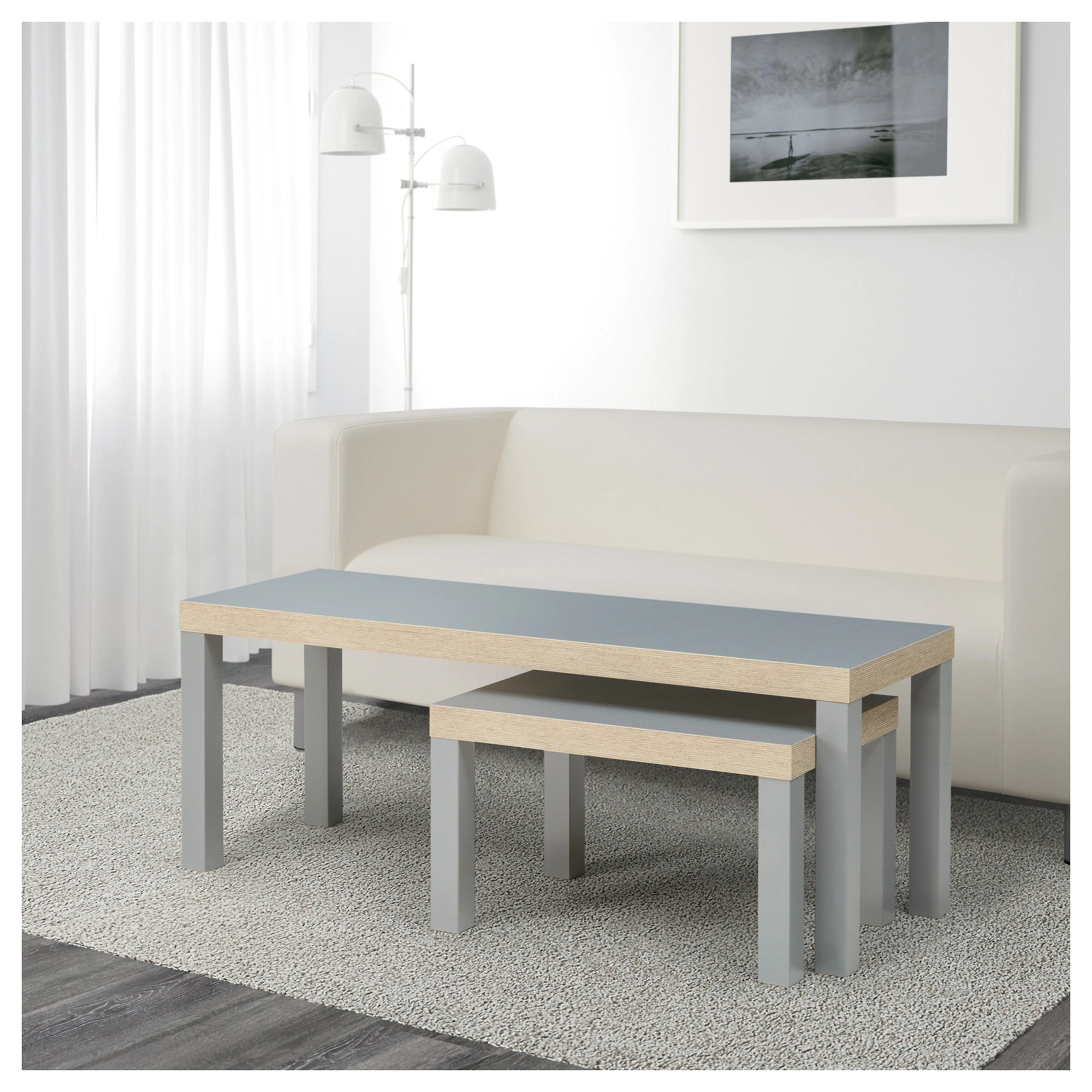 Ikea Lack Satztische In Grau 2 Stück Beistelltische Wohnzimmertische Home Furniture Diy Tables Other Tables