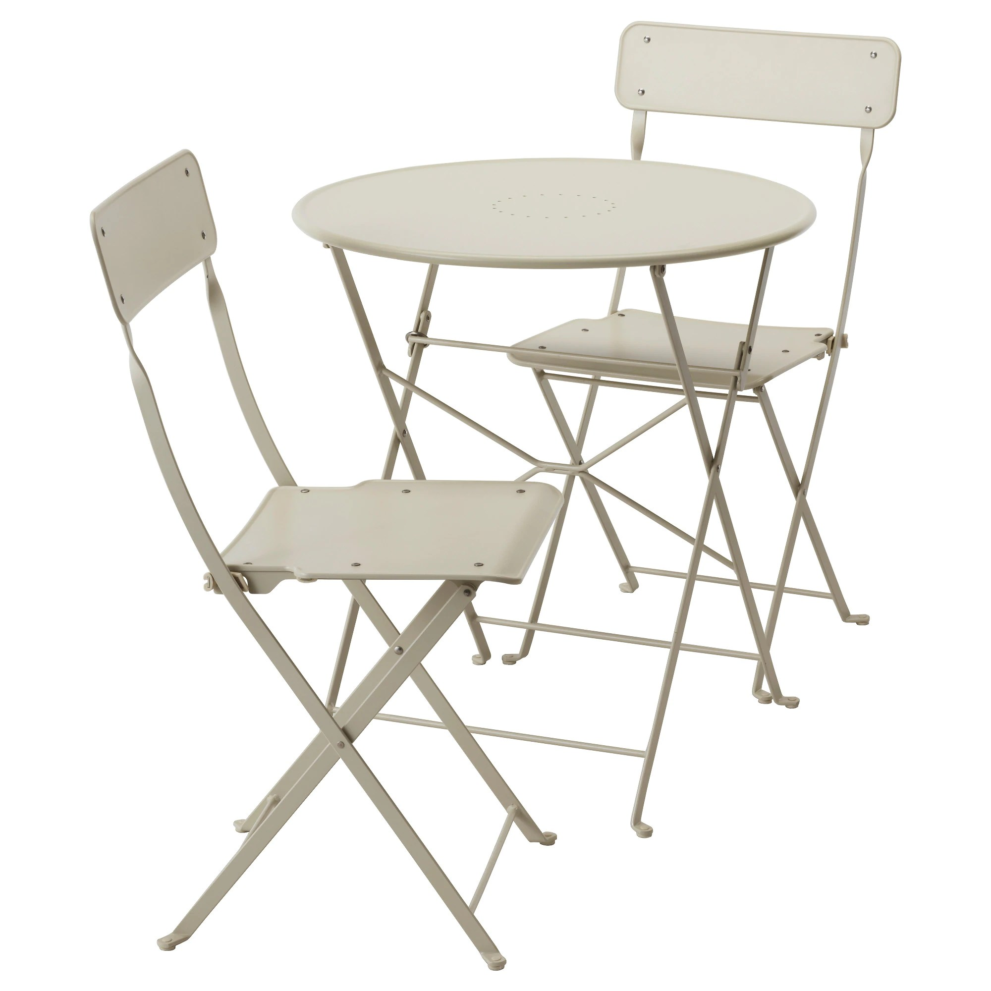 Chairs Folding Saltholmen Table And 2 Folding Chairs Outdoor Beige