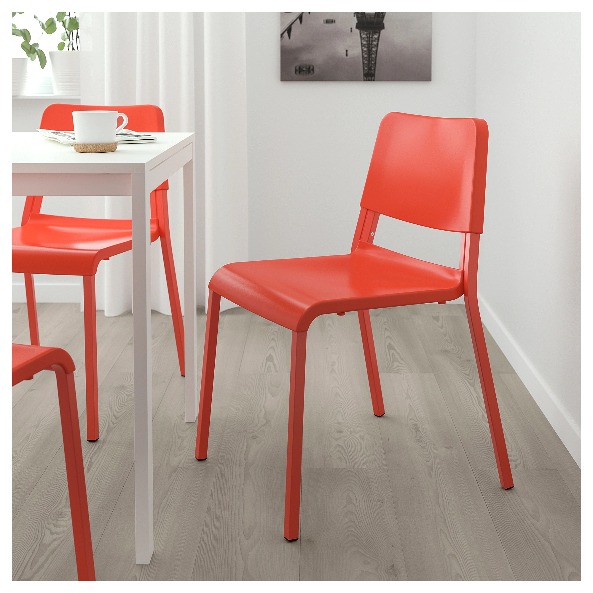Sedia Junior Ikea Teodores Chair Bright Orange