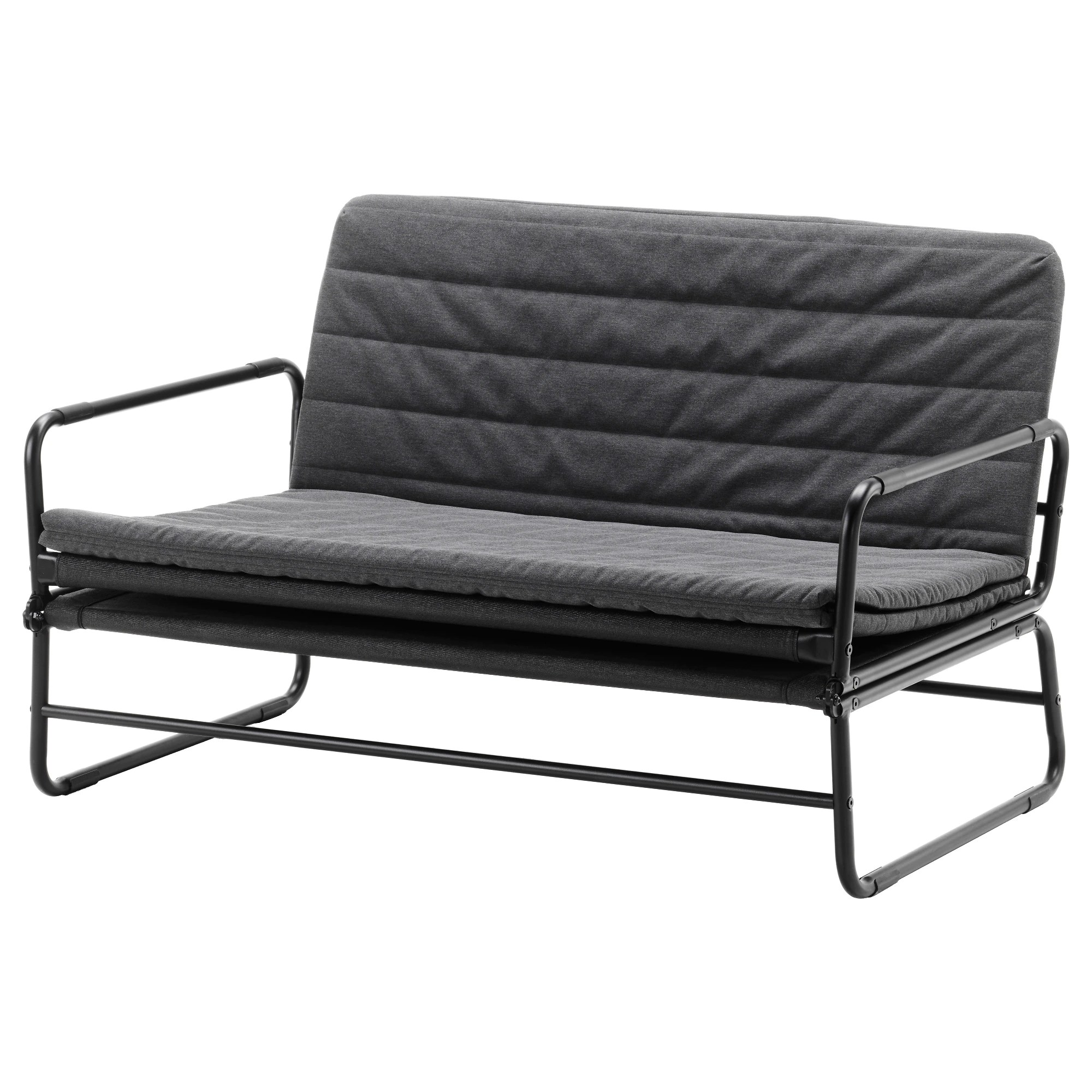 Bettsofa Askeby Hammarn Futon Knisa Dark Gray Black