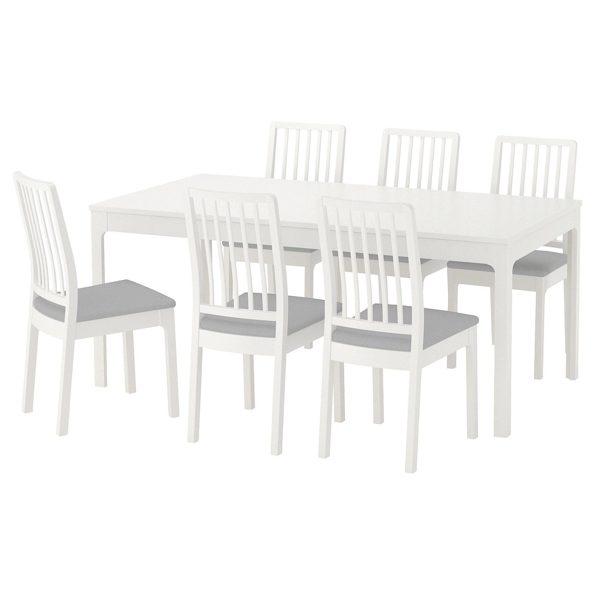 Table Ikea Blanche Ekedalen Ekedalen Table And 6 Chairs White Orrsta Light Gray
