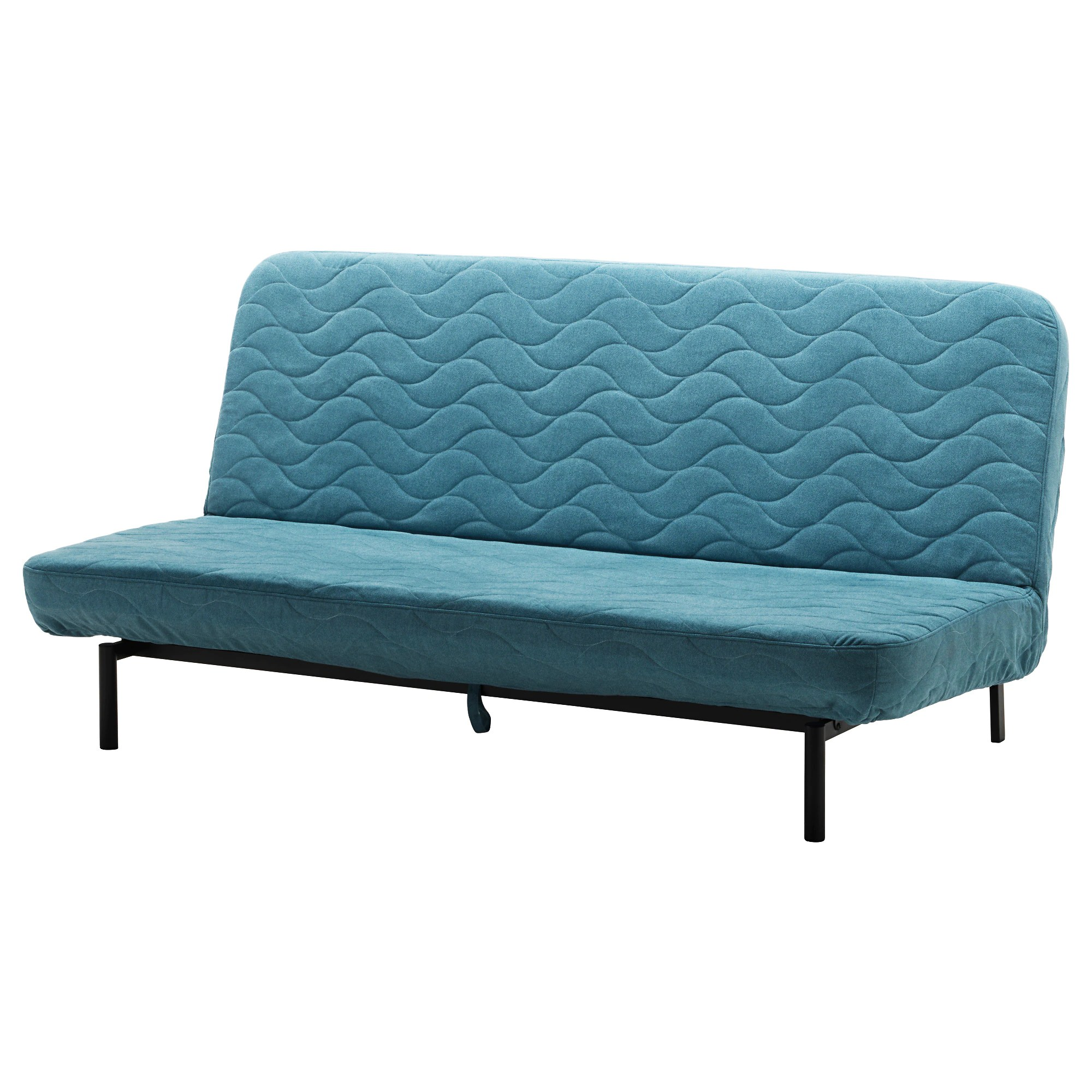 Bettsofa Ikea Blau Nyhamn Sleeper Sofa With Pocket Spring Mattress Borred Green Blue