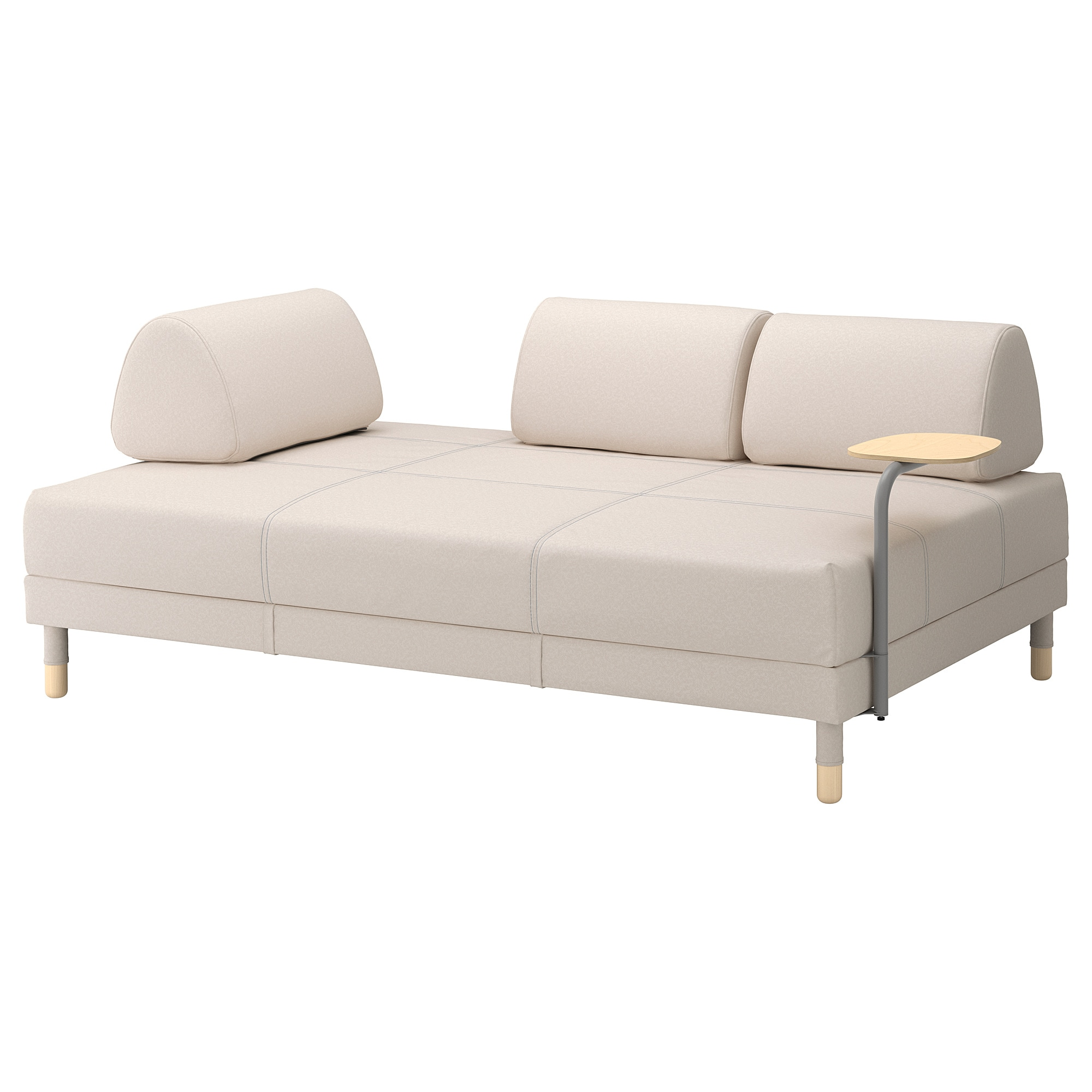 Sofa Dreams Outlet Flottebo Sleeper Sofa With Side Table Lofallet Beige