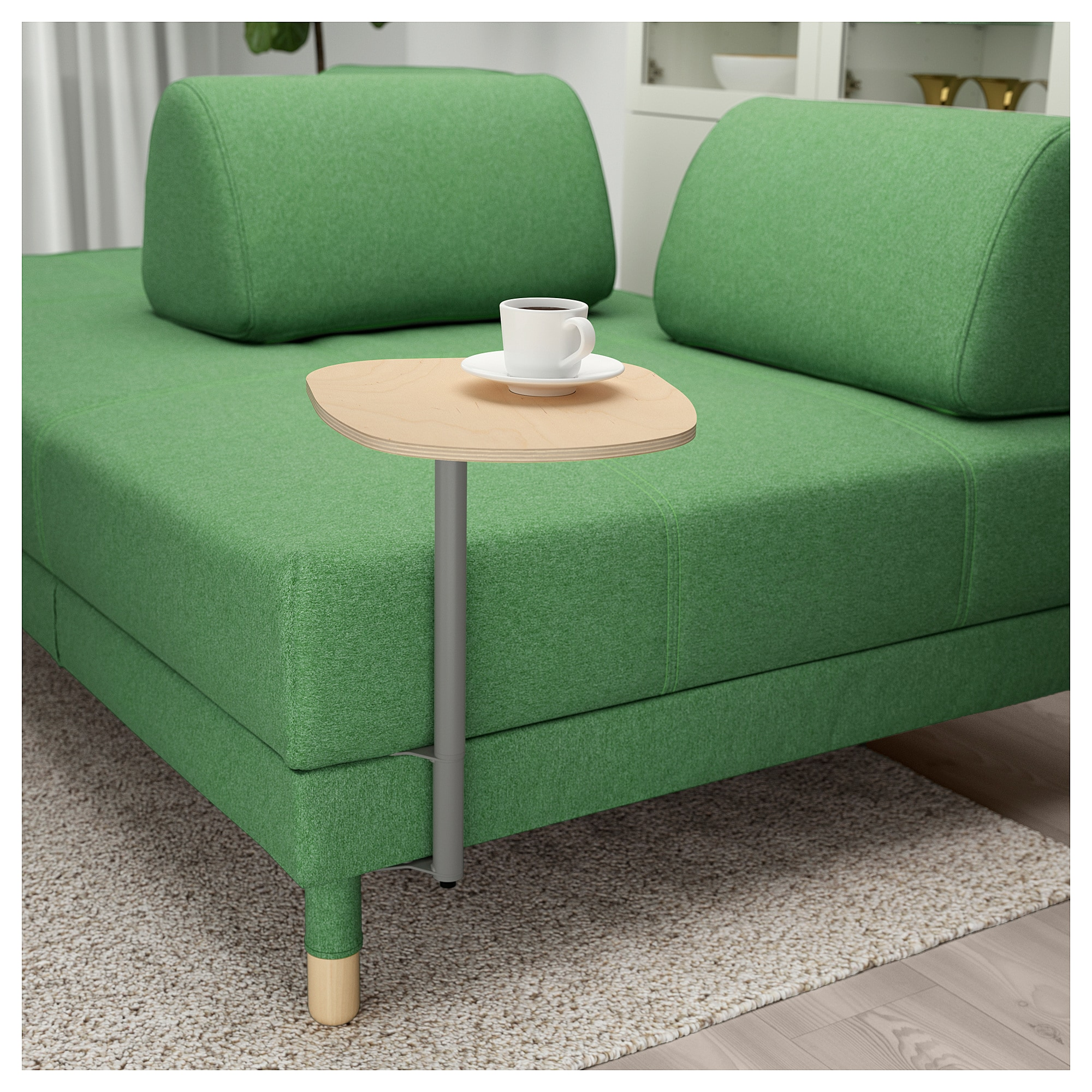Focus On Furniture Sofa Bed Flottebo Sleeper Sofa With Side Table Lysed Green