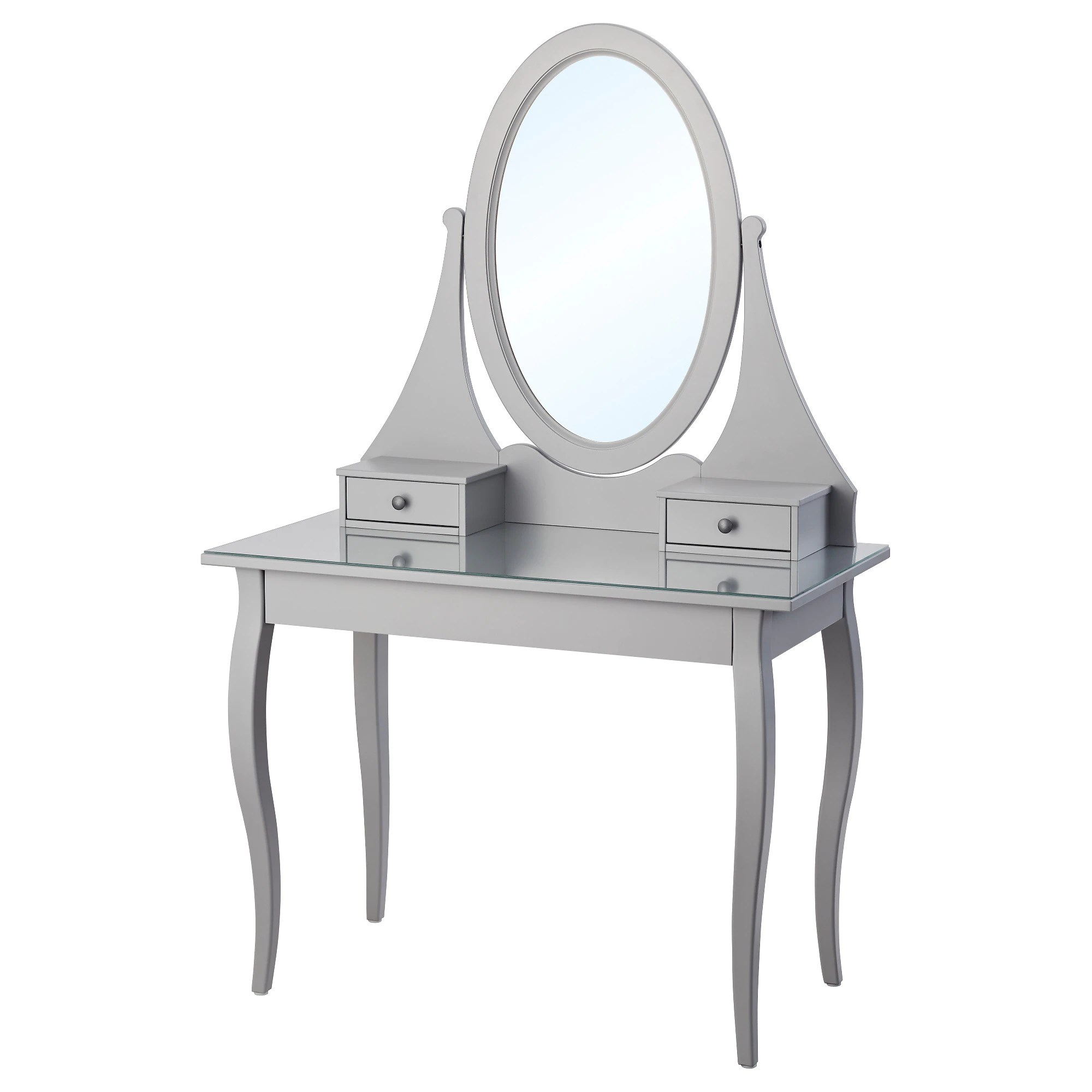 Console Grise Ikea Dressing Table With Mirror Hemnes Grey