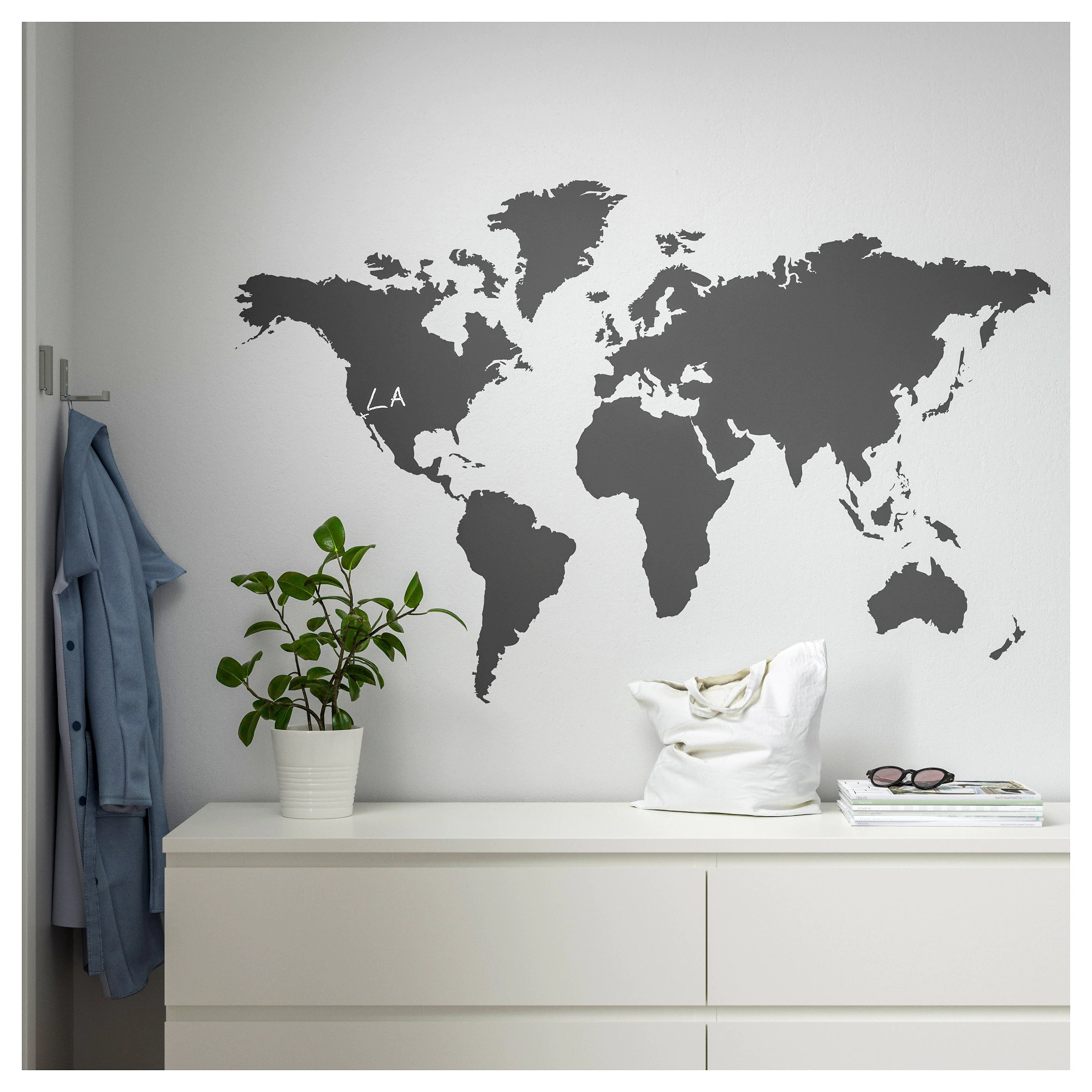 Poster Carte Du Monde Ikea KlÄtta Decoration Stickers Blackboard World