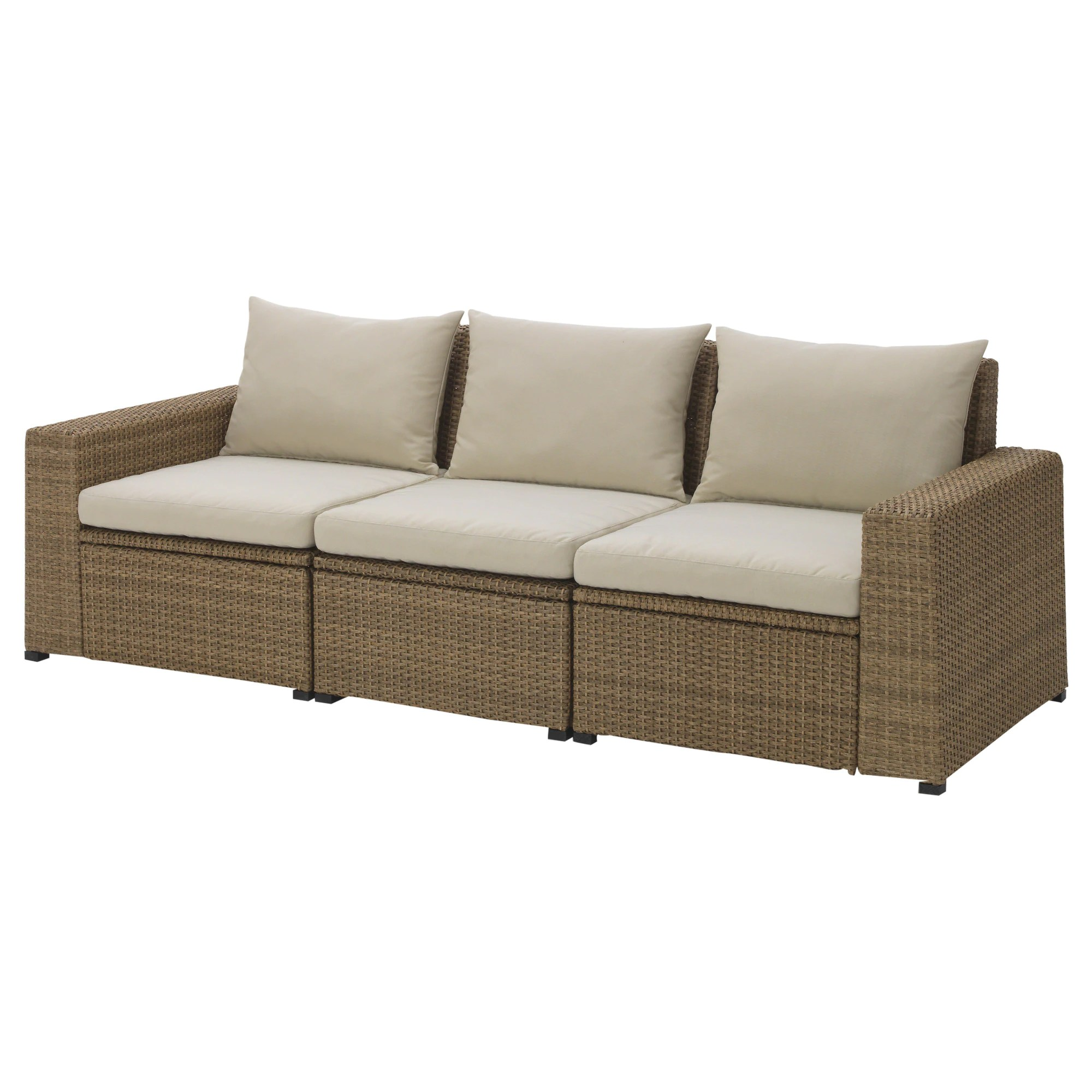 Cheap Modular Lounges SollerÖn 3 Seat Modular Sofa Outdoor Brown Hållö Beige