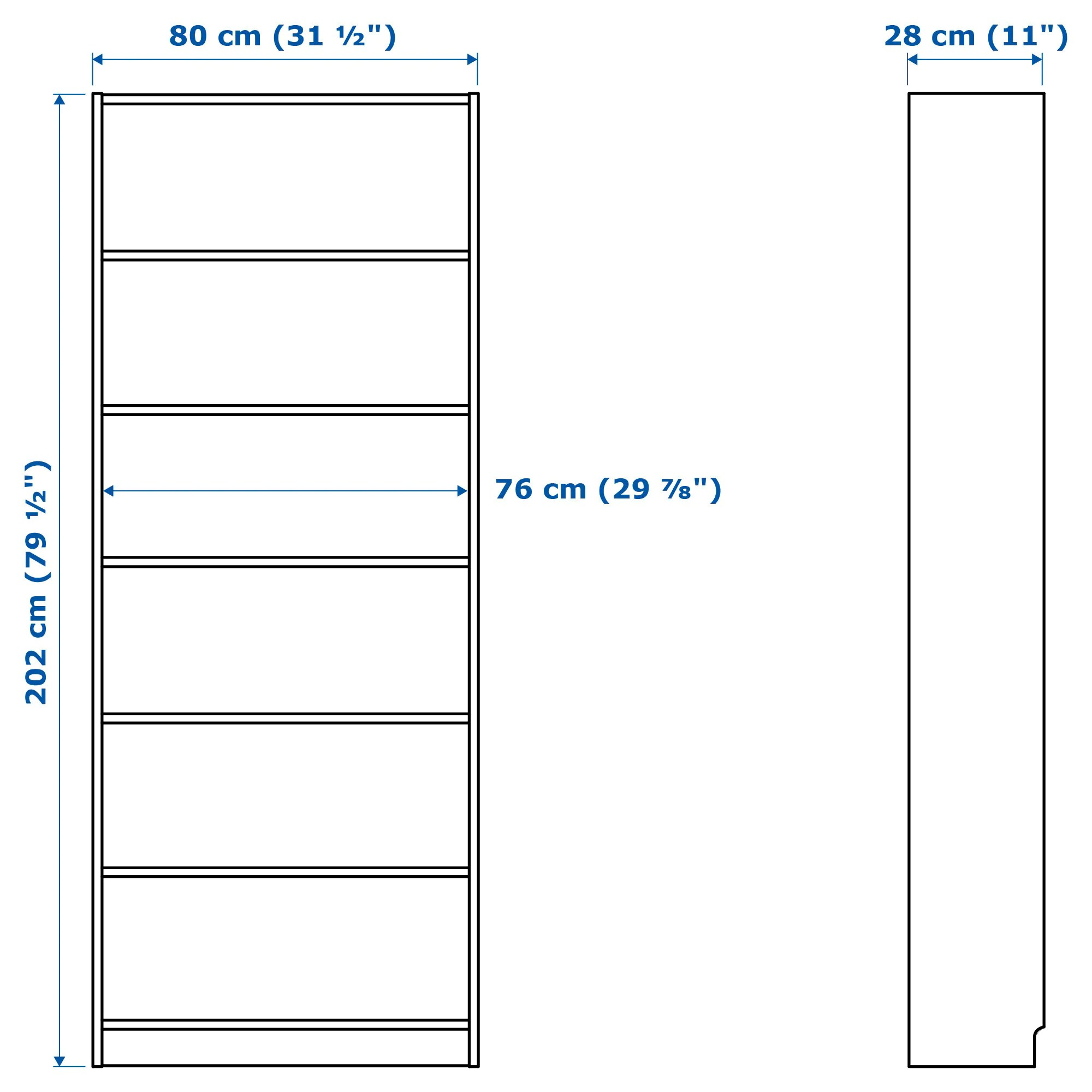 Billy Ikea Dimensions Billy Bookcase White
