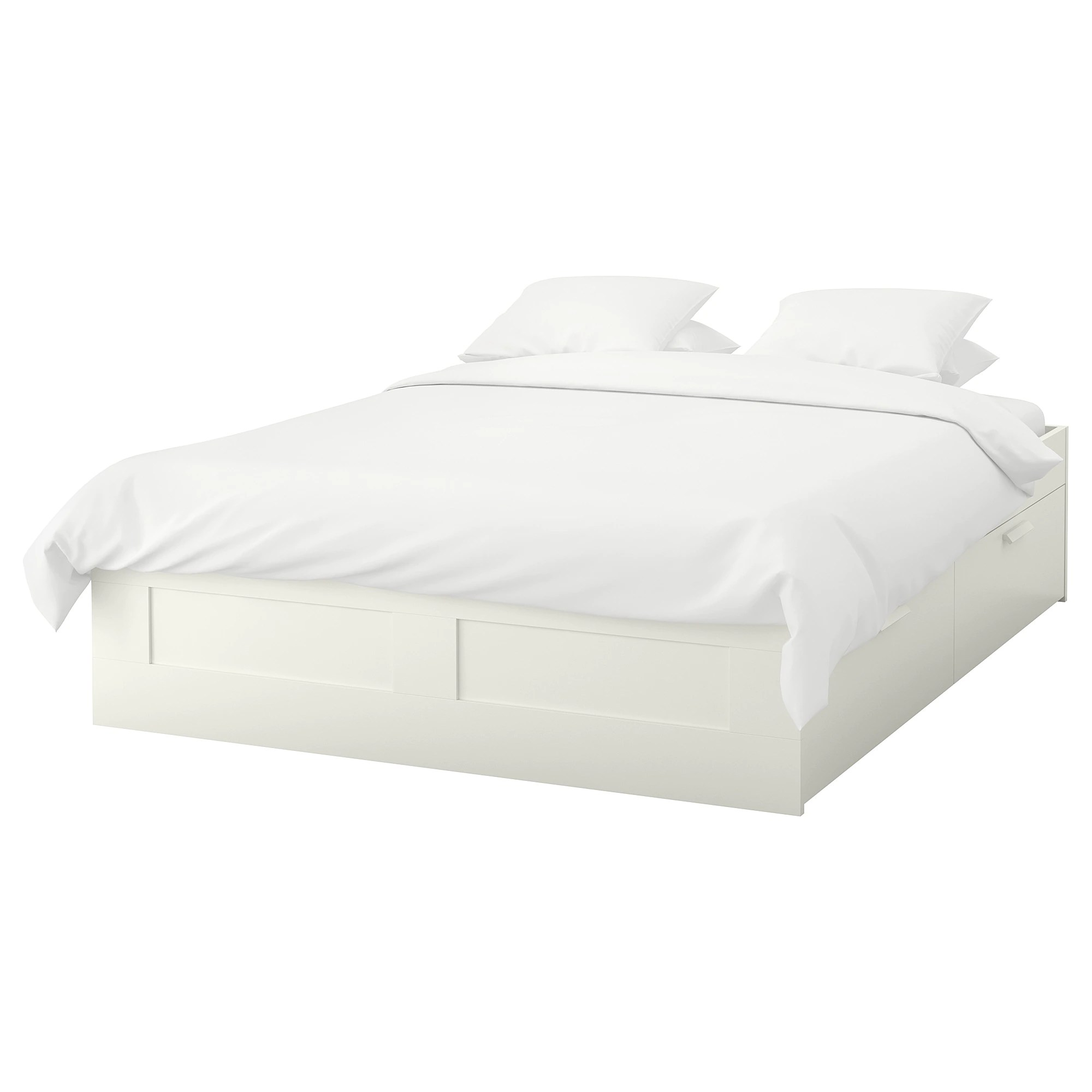 Bedroom Mattress Brimnes Bed Frame With Storage White