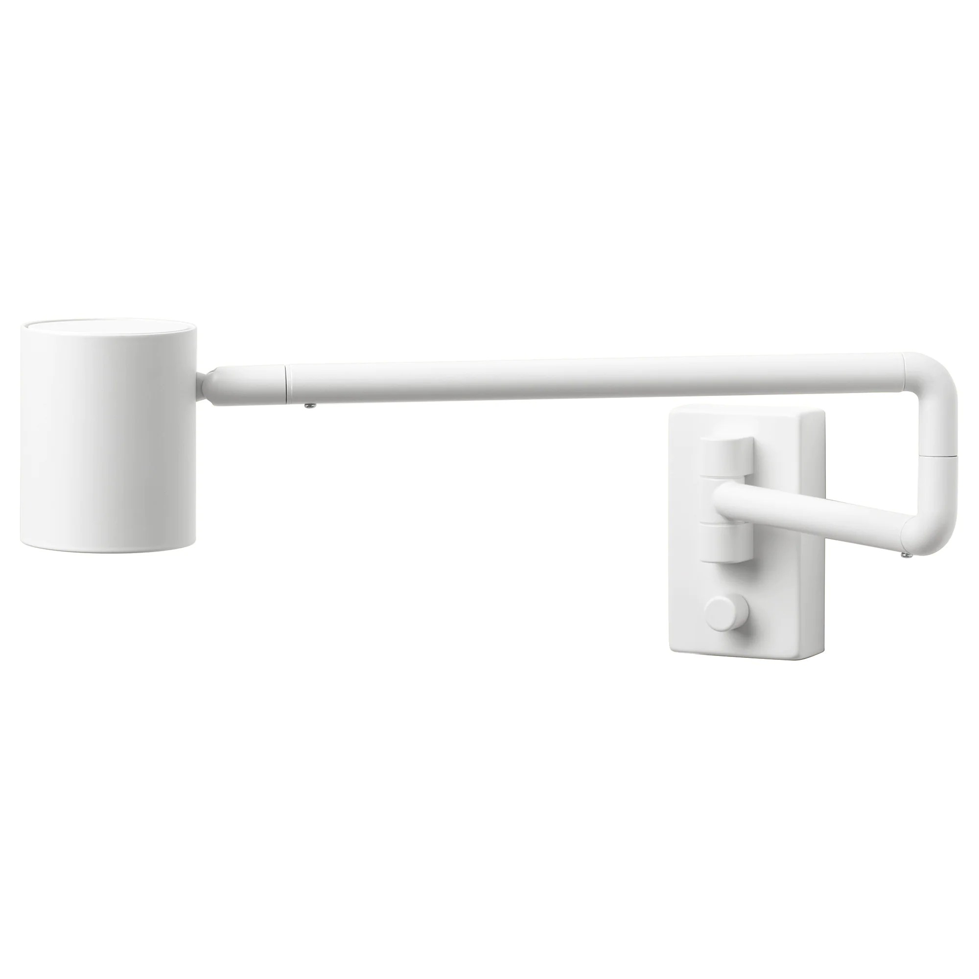 Swing Wall Lamp Wall Lamp W Swing Arm Wired In NymÅne White