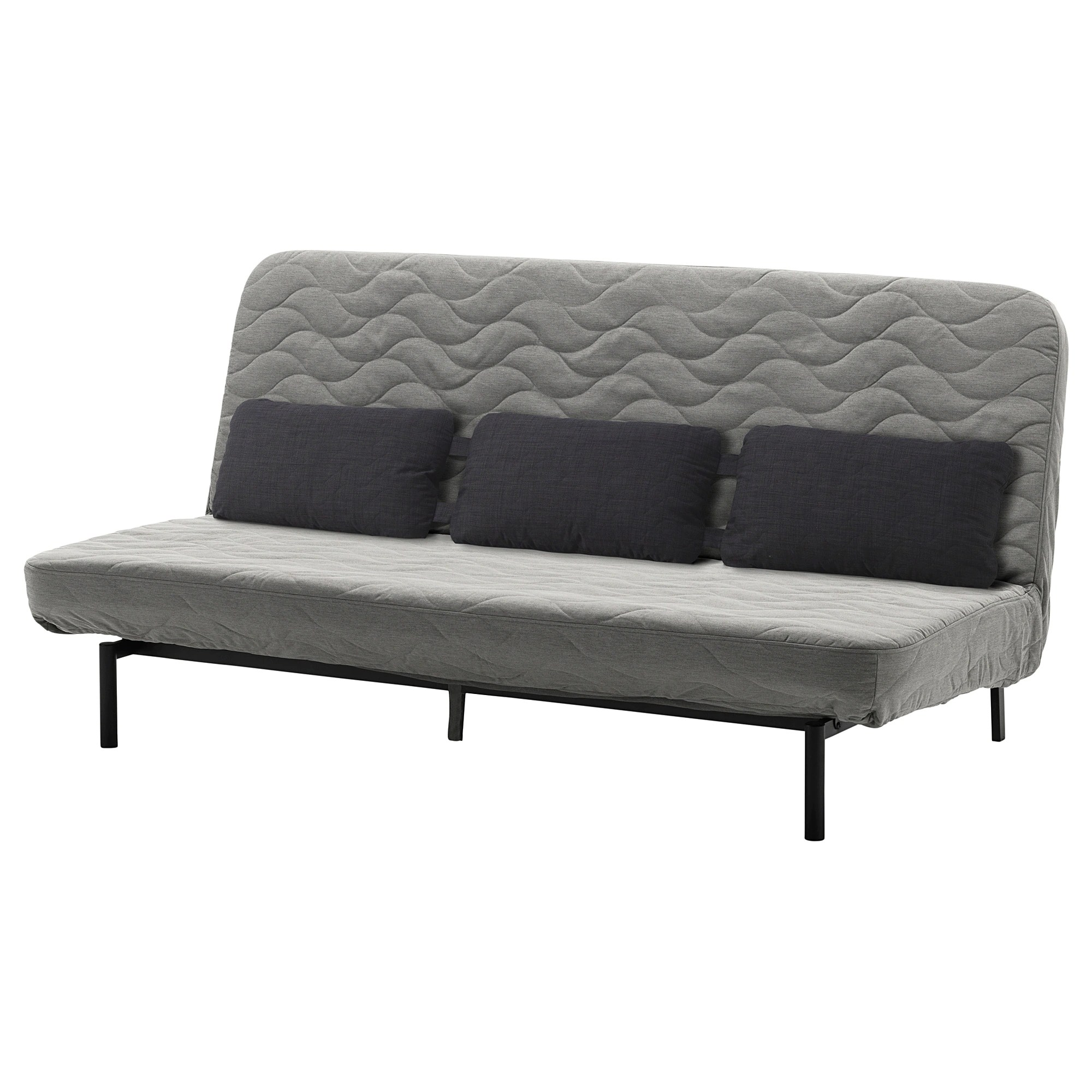 Sofa Cushions That Don't Go Flat Nyhamn Sleeper Sofa With Triple Cushion With Pocket Spring Mattress Knisa Gray Beige