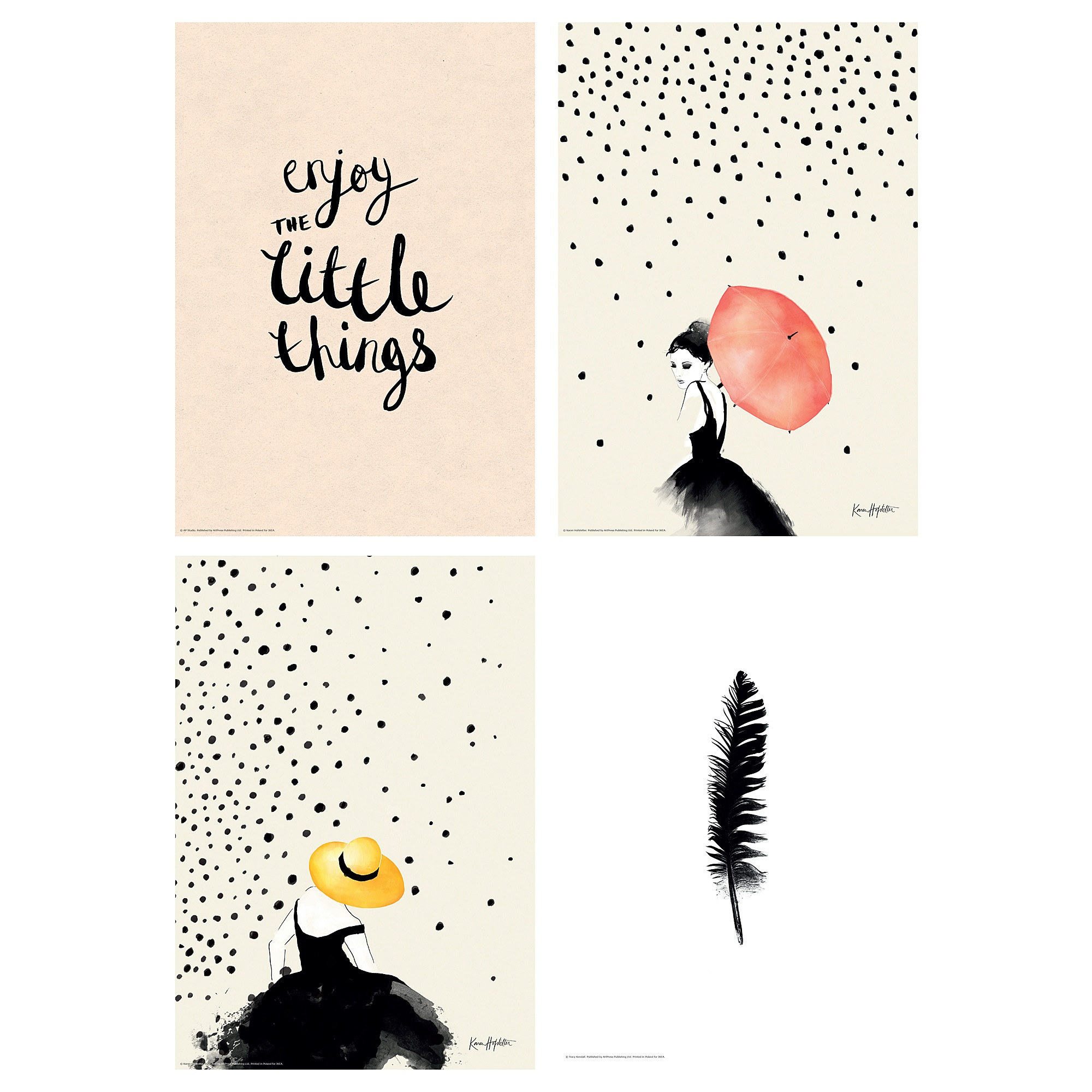 Ikea Poster Bild Poster Set Of 4 Simple Joy