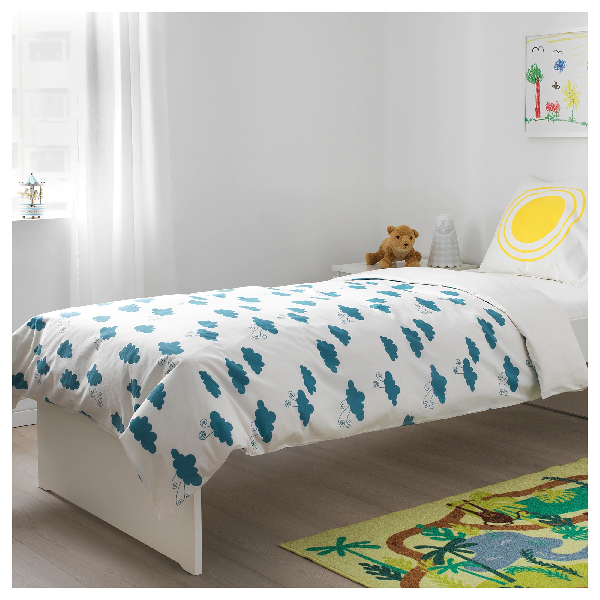 Habitat Bettwäsche Djungelskog Quilt Cover And Pillowcase Animal Cloud