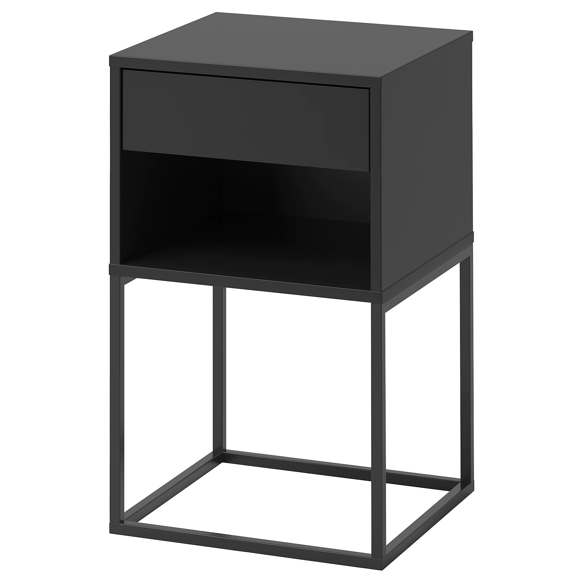 Table De Chevet Noir Ikea Table Chevet Vikhammer Noir