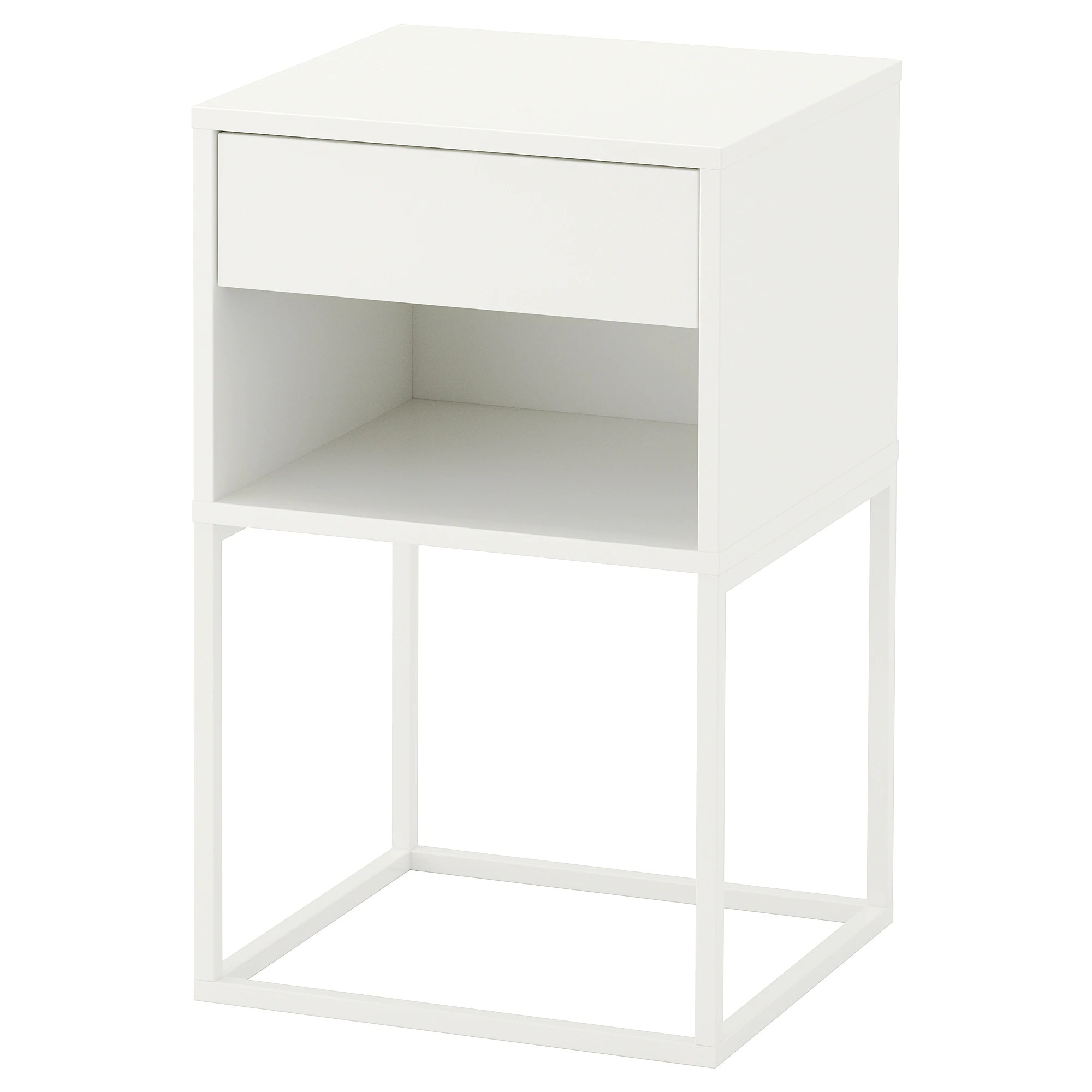 Table De Chevet Murale Ikea Table Chevet Vikhammer Blanc