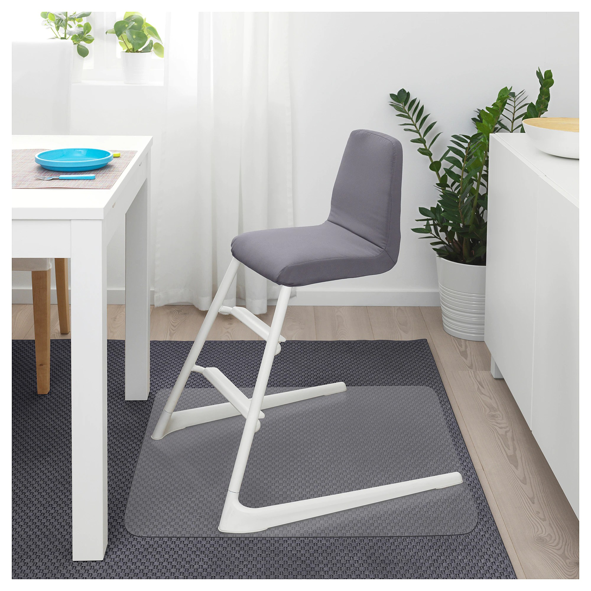 Sedia Junior Ikea Langur Padded Seat Cover For Junior Chair Grey