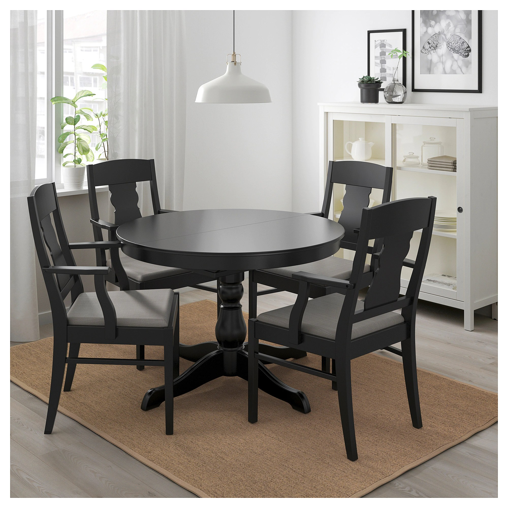 Ikea Tisch Weiß Ingatorp Ikea Ingatorp Ingolf Black Nolhaga Graybeige Table And 4 Chairs