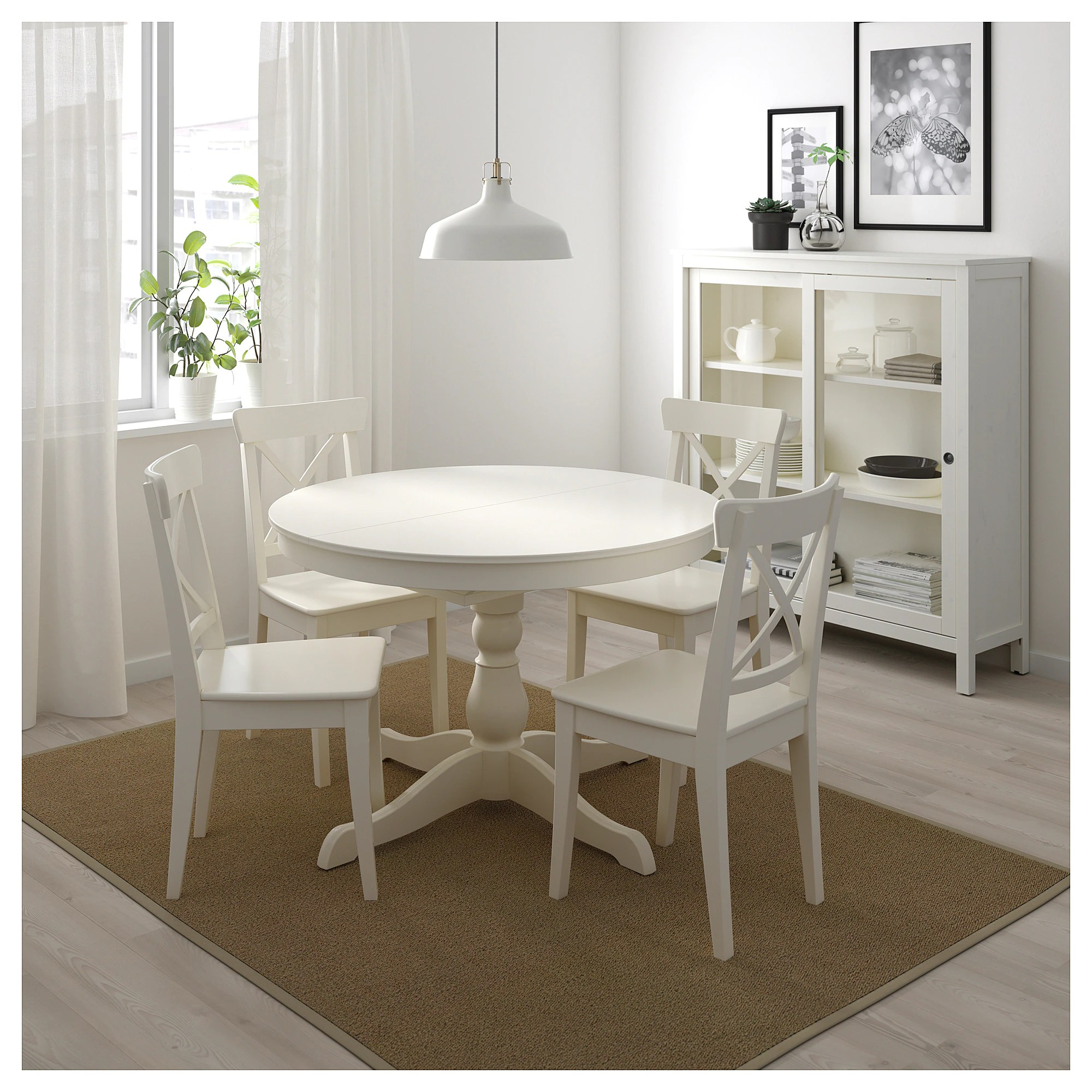 Ikea Table Cuisine Ronde Ingatorp Extendable Table White