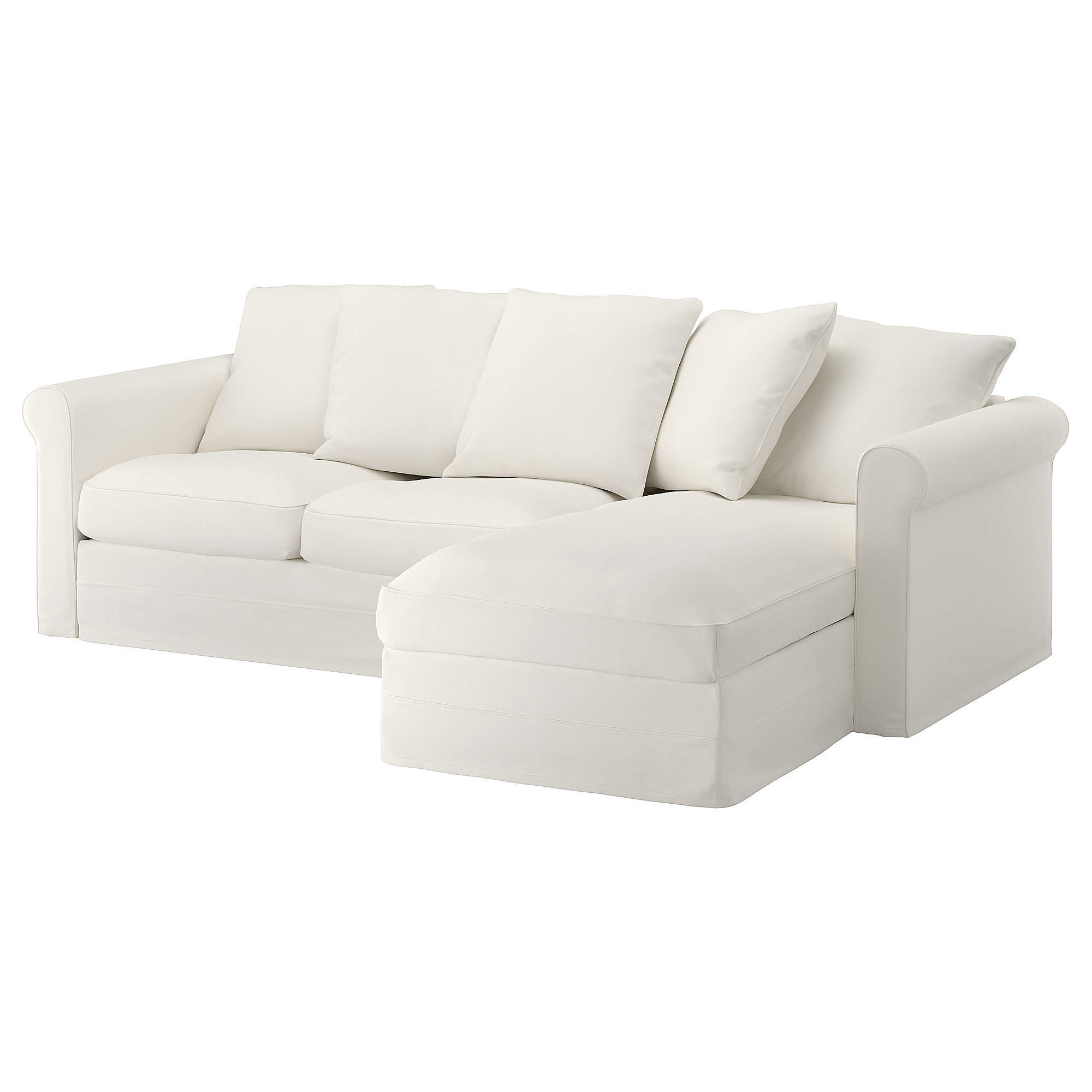 Bettsofa Ikea GrÖnlid 3 Seat Sofa With Chaise Longue Inseros White