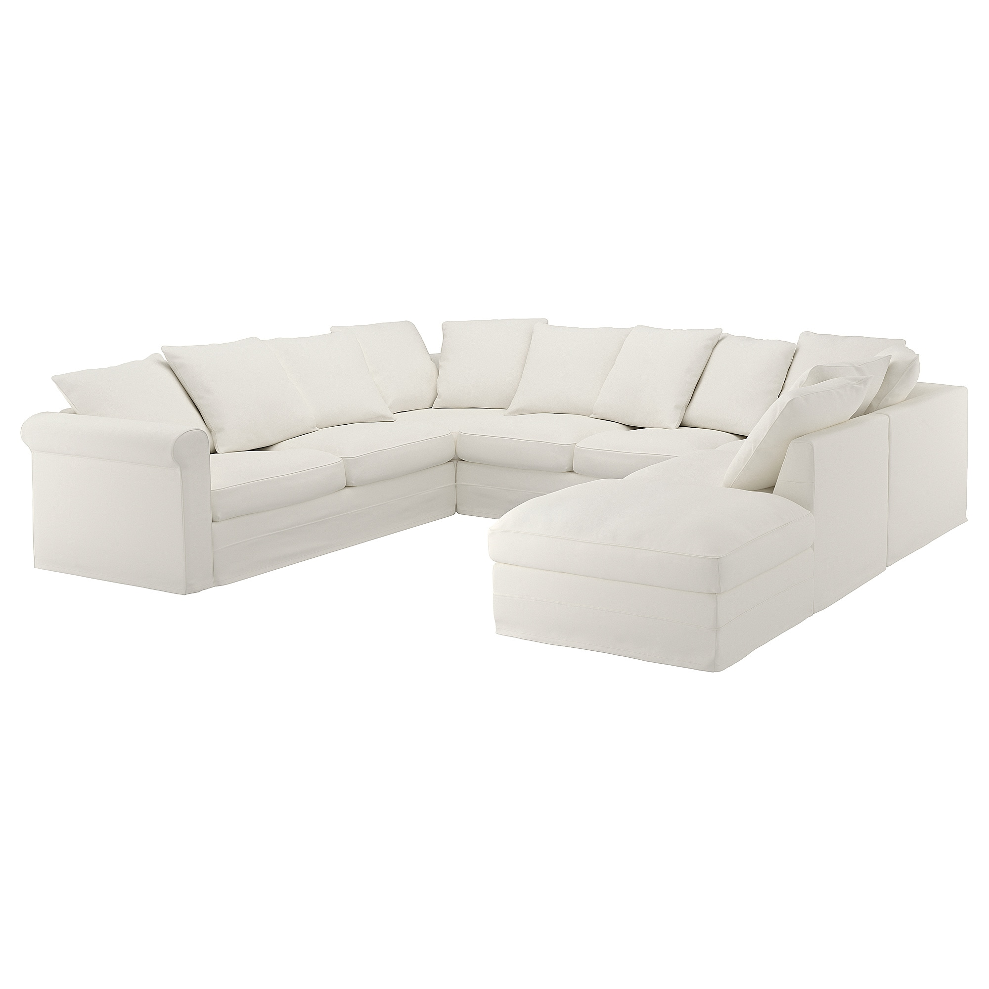 U Shaped Sectional Sofa Ikea GrÖnlid Sectional 6 Seat With Open End Inseros White