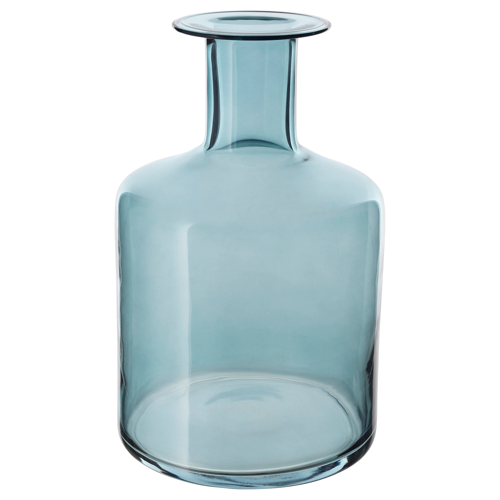 Glass Vases Ikea Pepparkorn Vase Blue