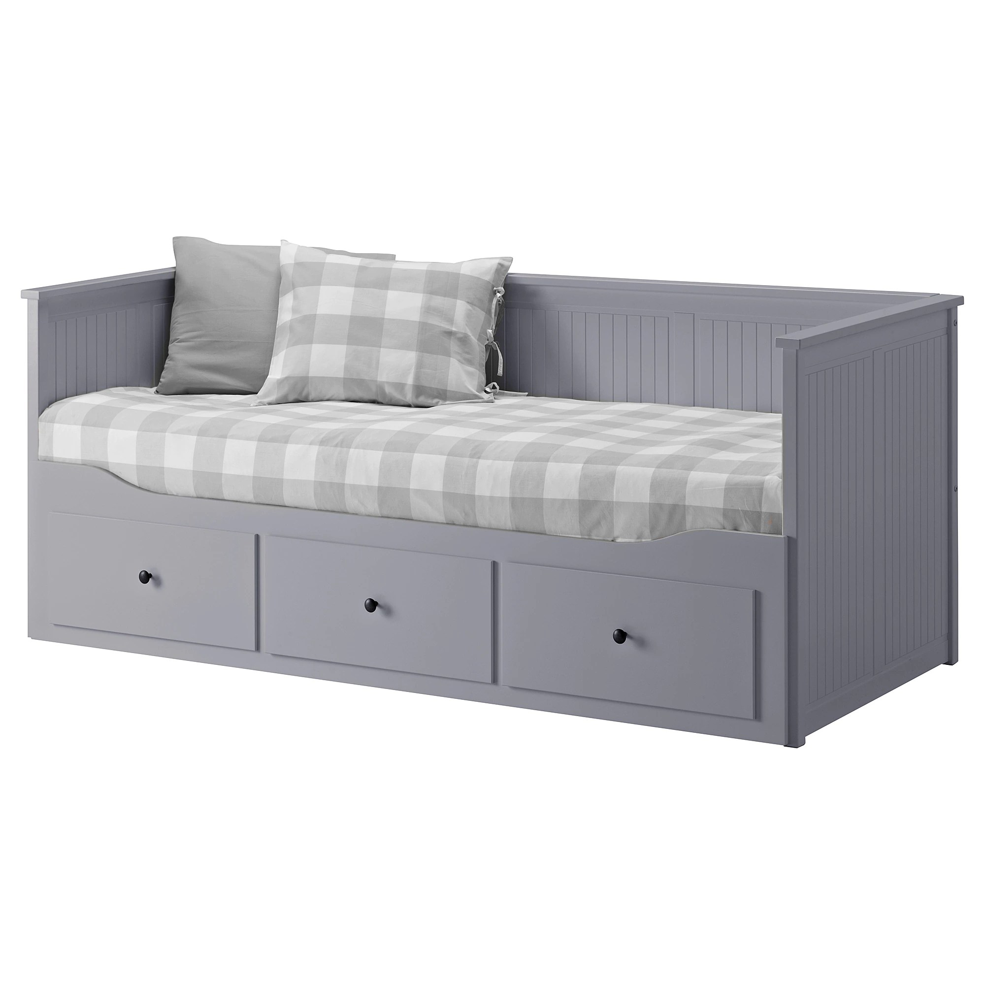 Ikea Sofa Bed Day Bed Frame With 3 Drawers Hemnes Grey