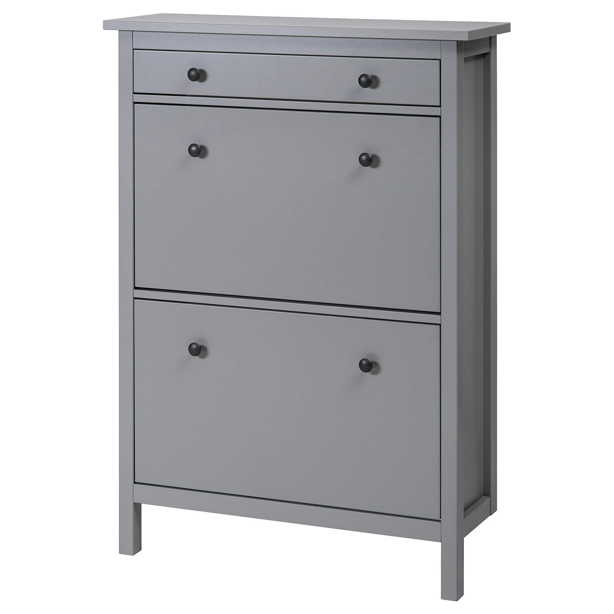 Meuble A Chaussures Stall Armoire à Chaussures 2 Casiers Hemnes Gris