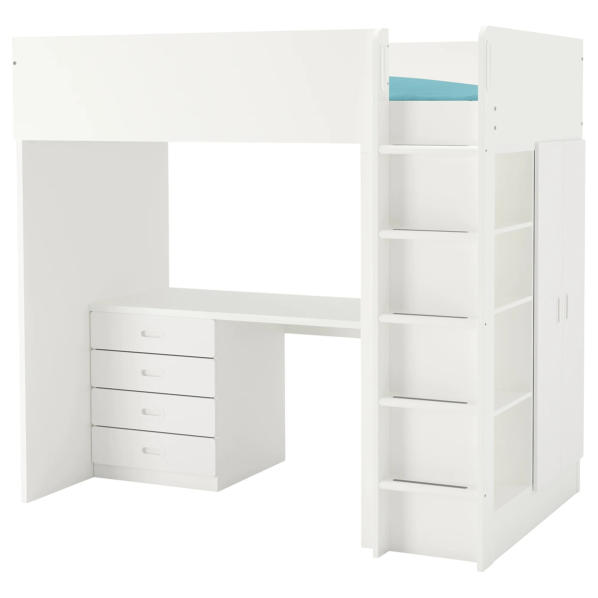 Stuva Lit Stuva Fritids Loft Bed With 4 Drawers 2 Doors White White