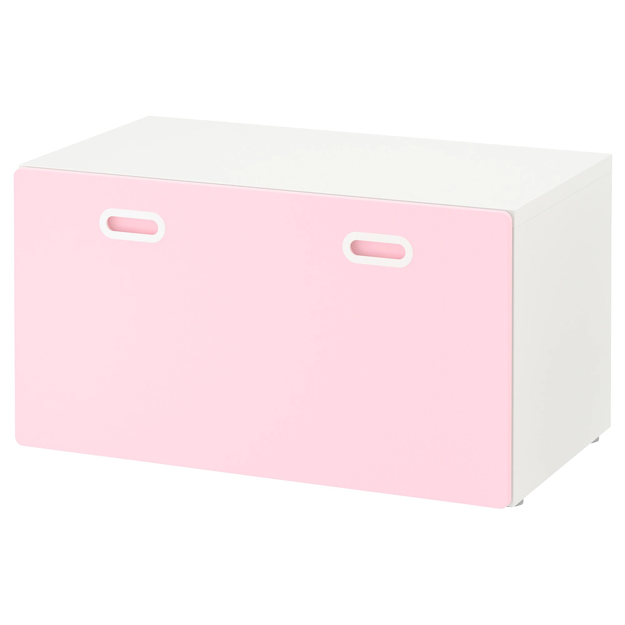 Complete Kinderkamer Ikea Bench With Toy Storage Stuva Fritids White Light Pink
