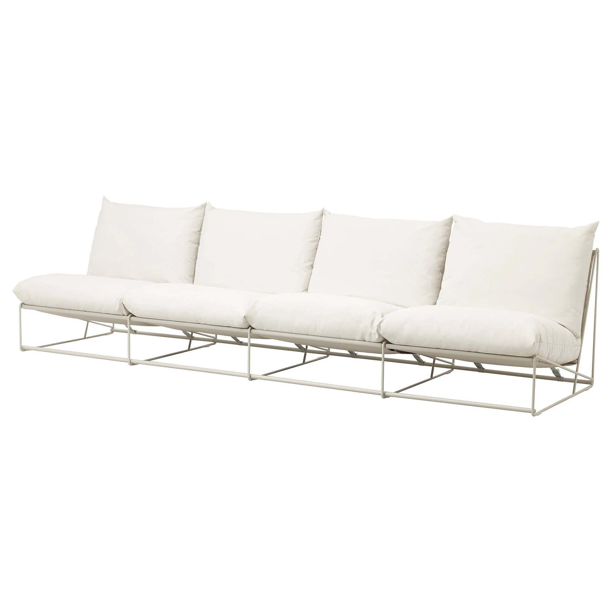 Ikea Sofa 4 Seater Havsten 4 Seat Sofa In Outdoor With Open End Without Armrests Beige